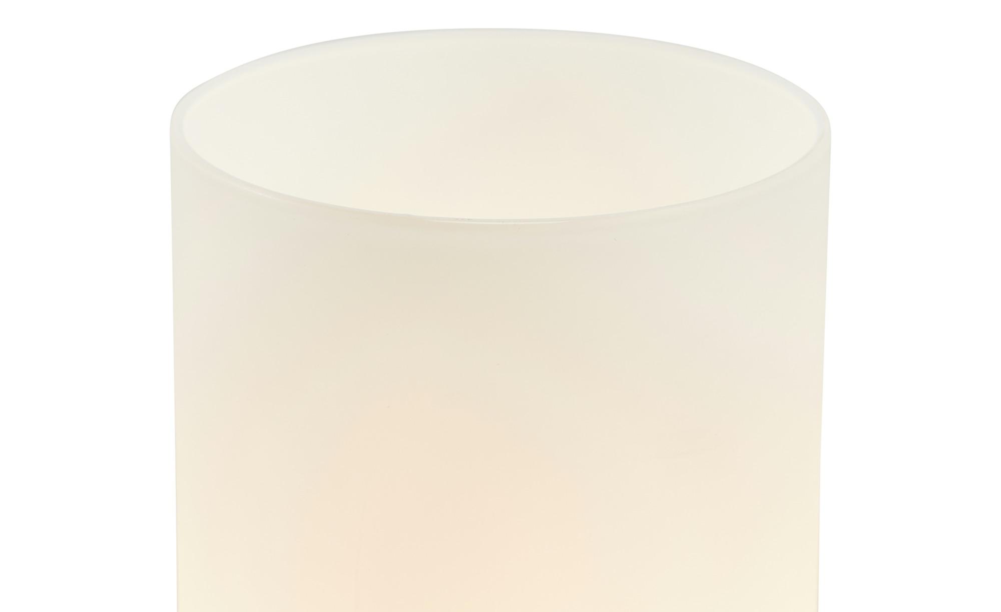 KHG Tischleuchte, 1-flammig, Zylinderform Glas weiß ¦ weiß ¦ Maße (cm): H: 25,5 Ø: 10 Lampen & Leuchten > Innenleuchten > Tischlampen - Höffner