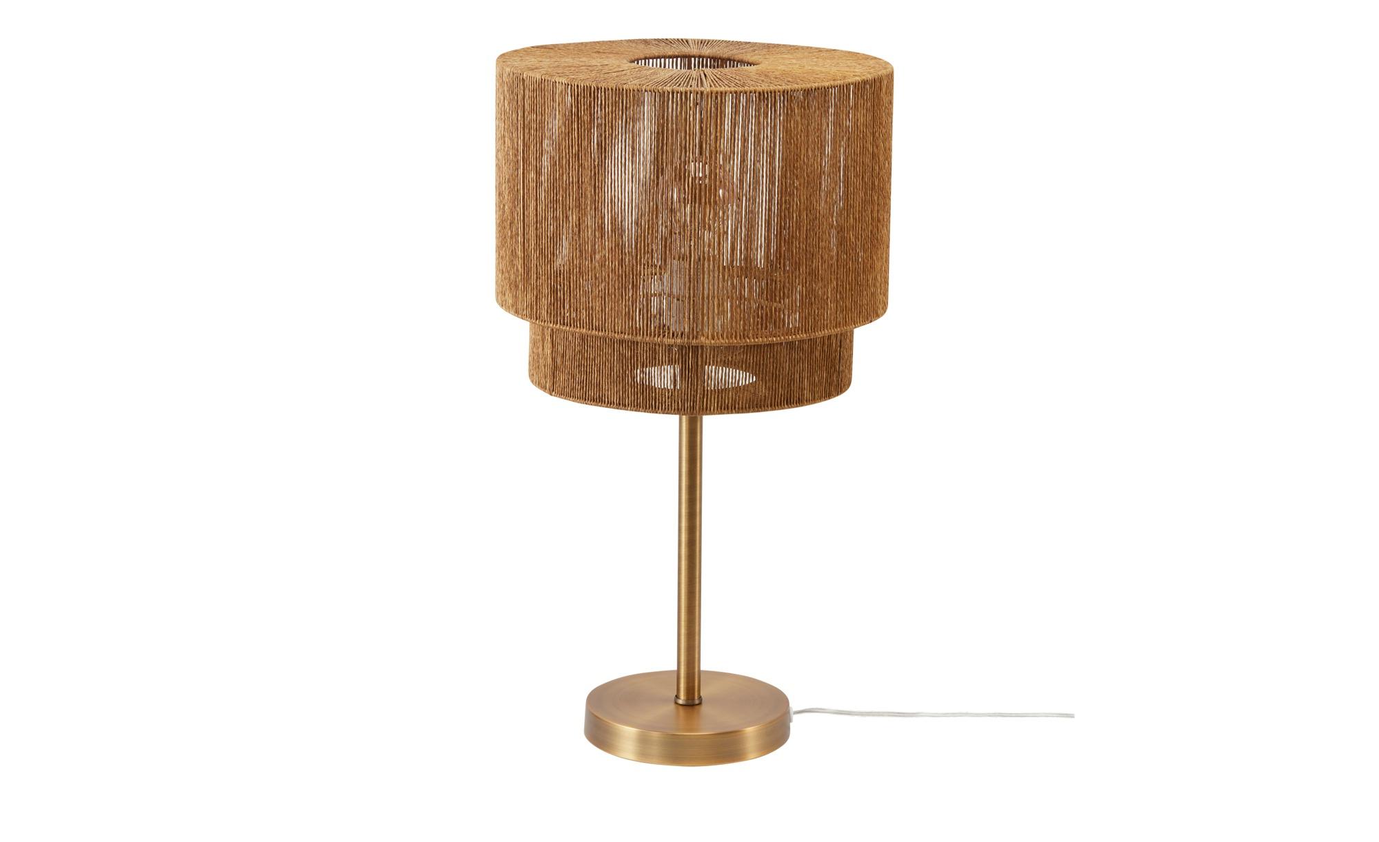 KHG Tischleuchte, 1-flammig, gold-antik ¦ gold ¦ Maße (cm): H: 53,5 Ø: 29.5 Lampen & Leuchten > Innenleuchten > Tischlampen - Höffner