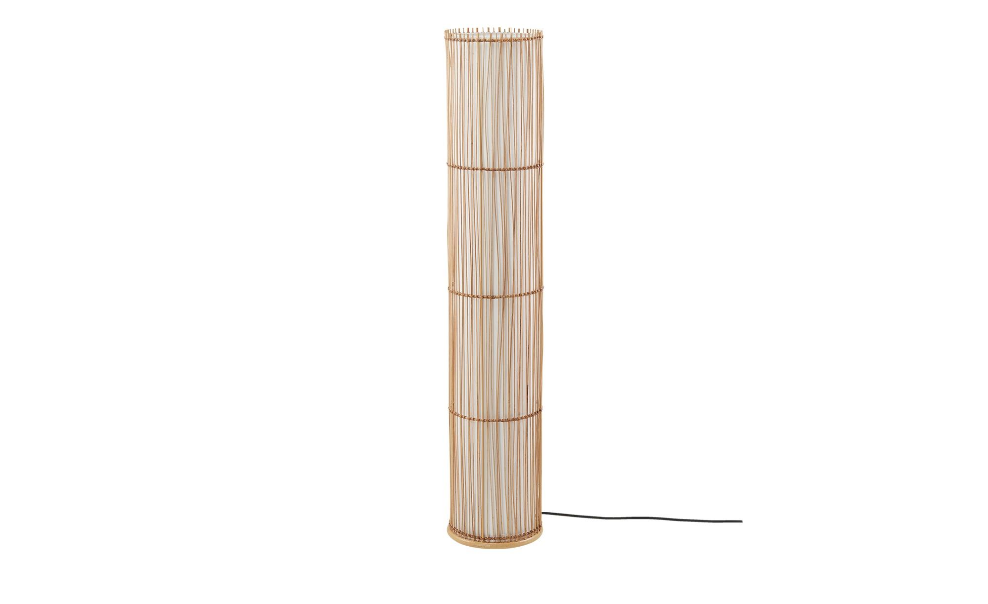 KHG Stehleuchte, 1-flammig, Schirm aus Weidenholz ¦ holzfarben ¦ Maße (cm): H: 150 Ø: 28 Lampen & Leuchten > Innenleuchten > Stehlampen - Höffner