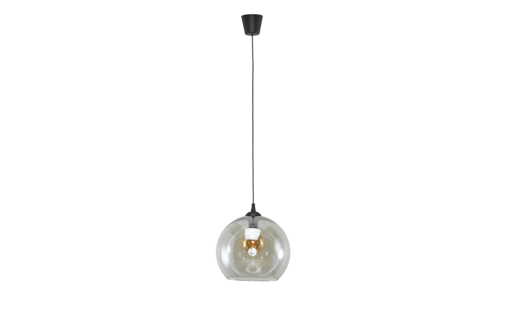 Pendelleuchte, 1-flammig, Glas graphitfarben ¦ grau ¦ Maße (cm): H: 120 Ø: 30 Lampen & Leuchten > Innenleuchten > Pendelleuchten - Höffner