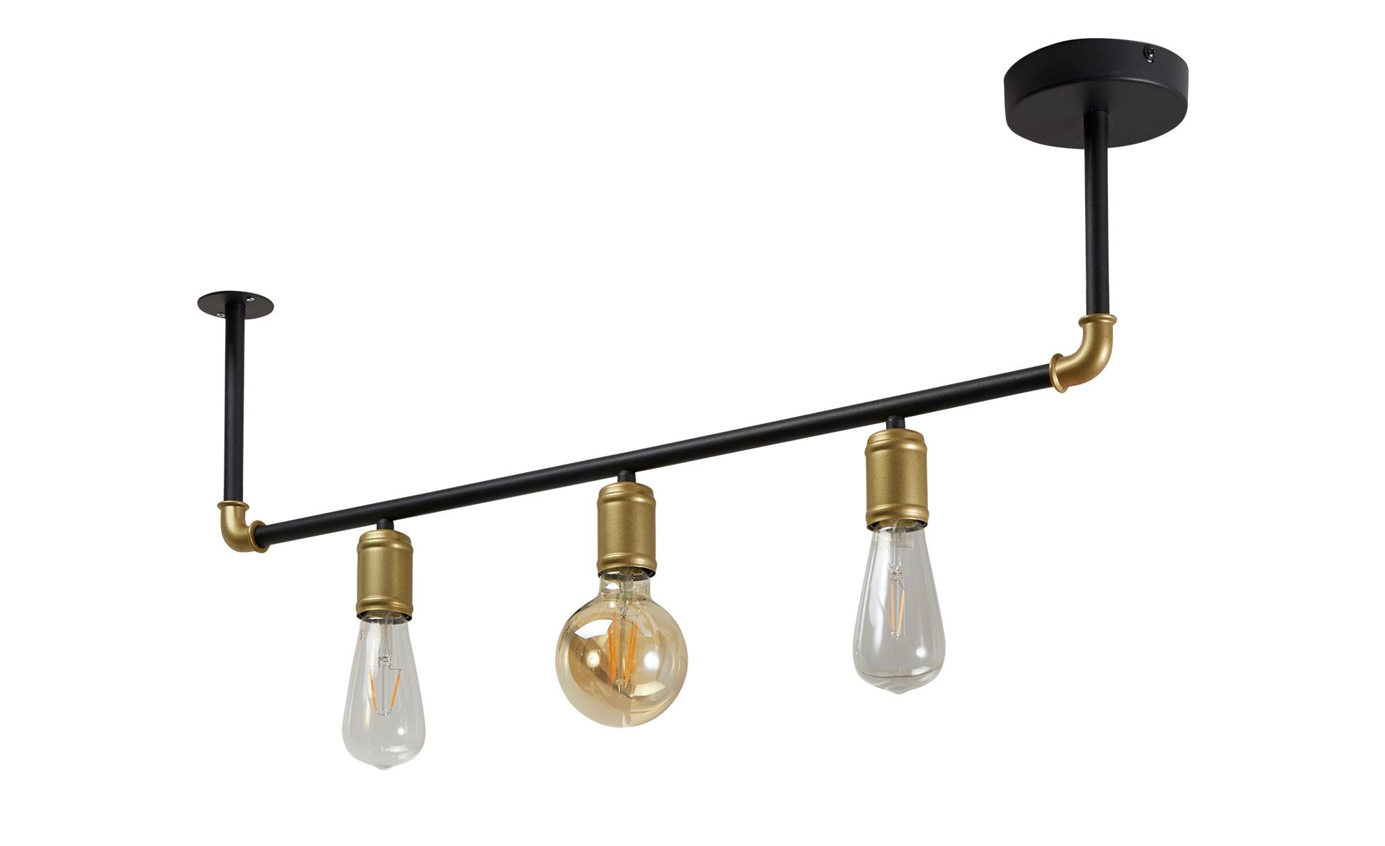 Deckenleuchte, 3-flammig, schwarz ¦ schwarz ¦ Maße (cm): H: 27 Lampen & Leuchten > Innenleuchten > Deckenleuchten - Höffner