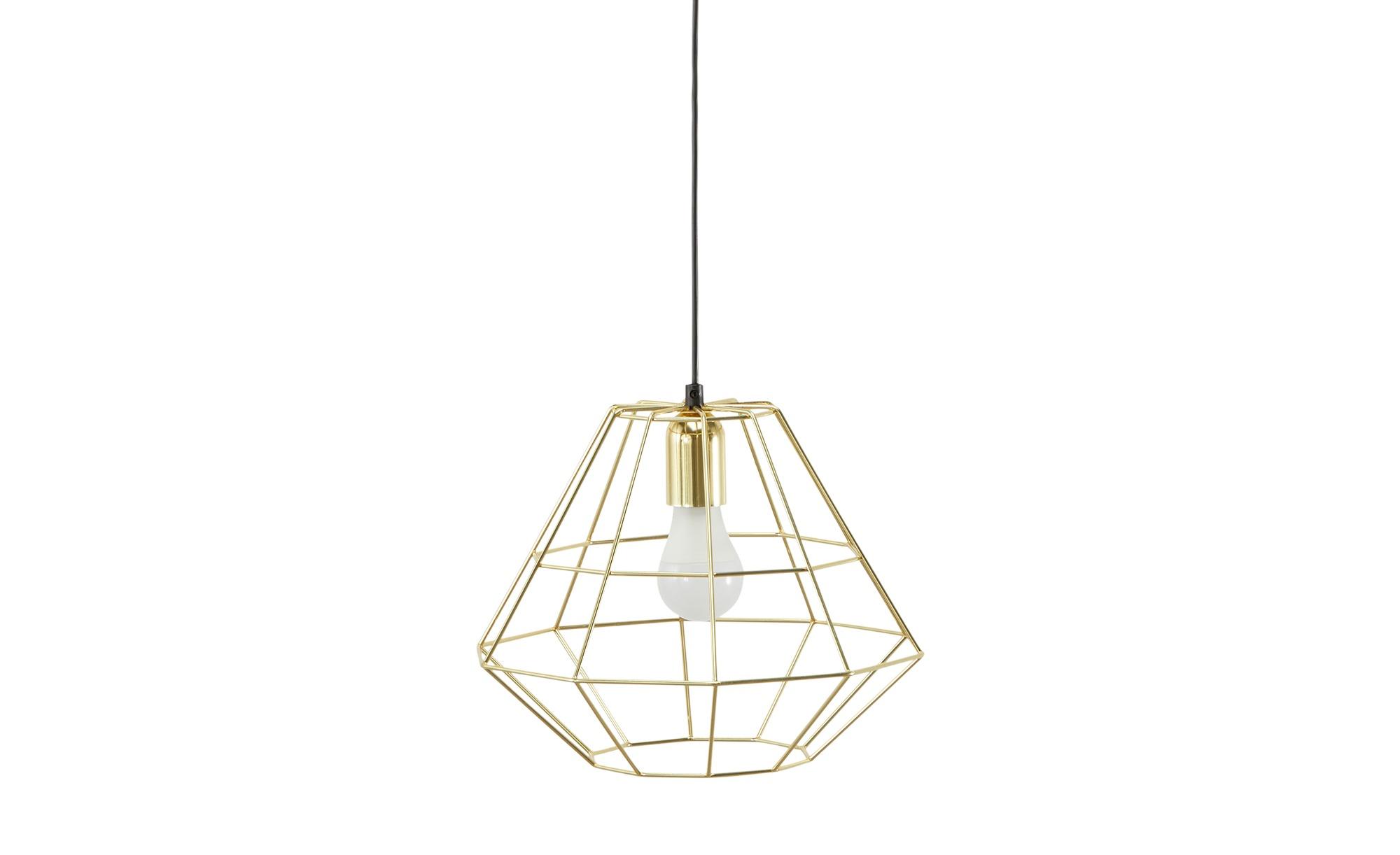 Pendelleuchte, 1-flammig, goldfarben ¦ gold ¦ Maße (cm): H: 116 Ø: 31 Lampen & Leuchten > Innenleuchten > Pendelleuchten - Höffner