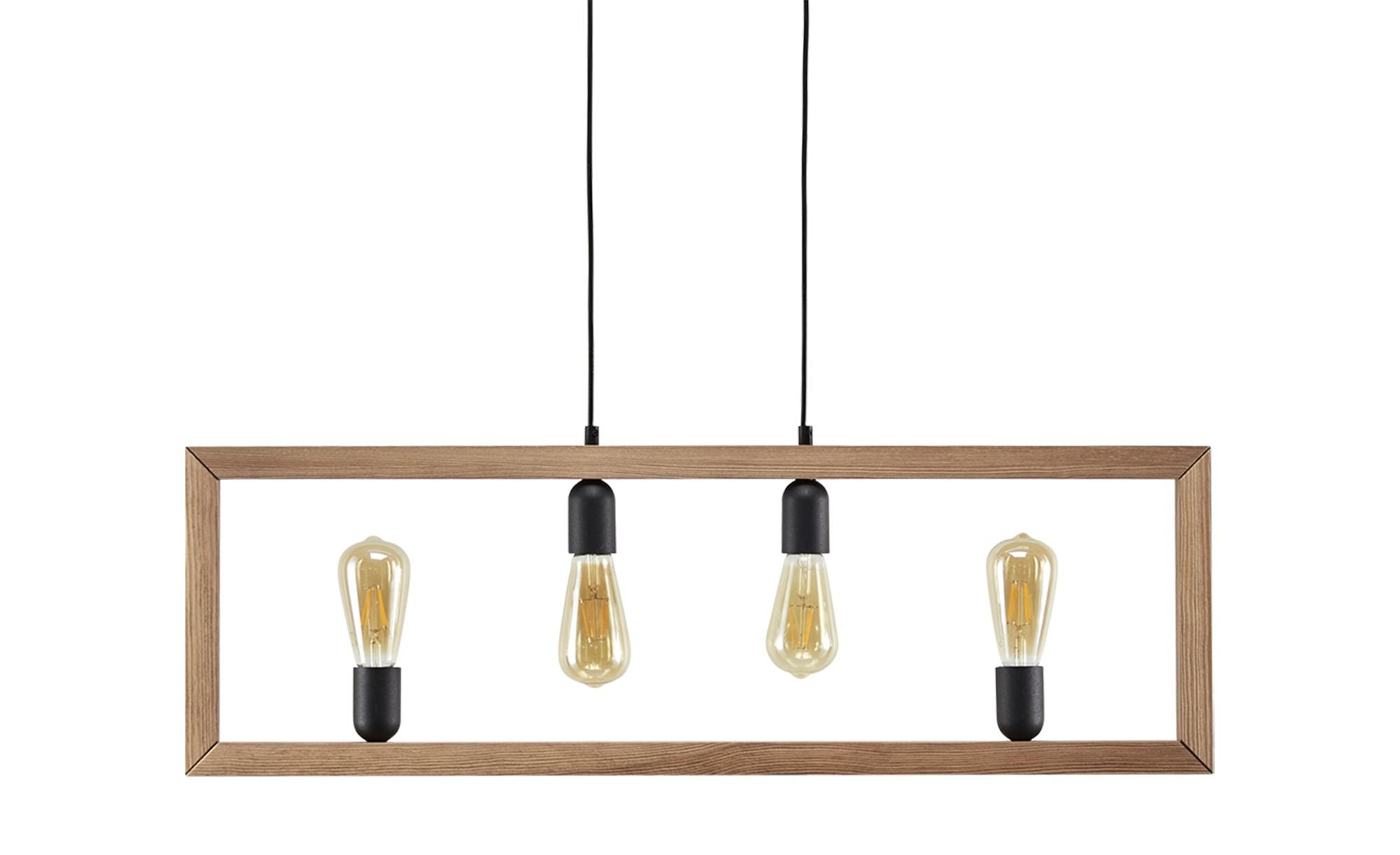 Pendelleuchte, 4-flammig, Holz ¦ holzfarben ¦ Maße (cm): B: 89 H: 99 Lampen & Leuchten > Innenleuchten > Pendelleuchten - Höffner