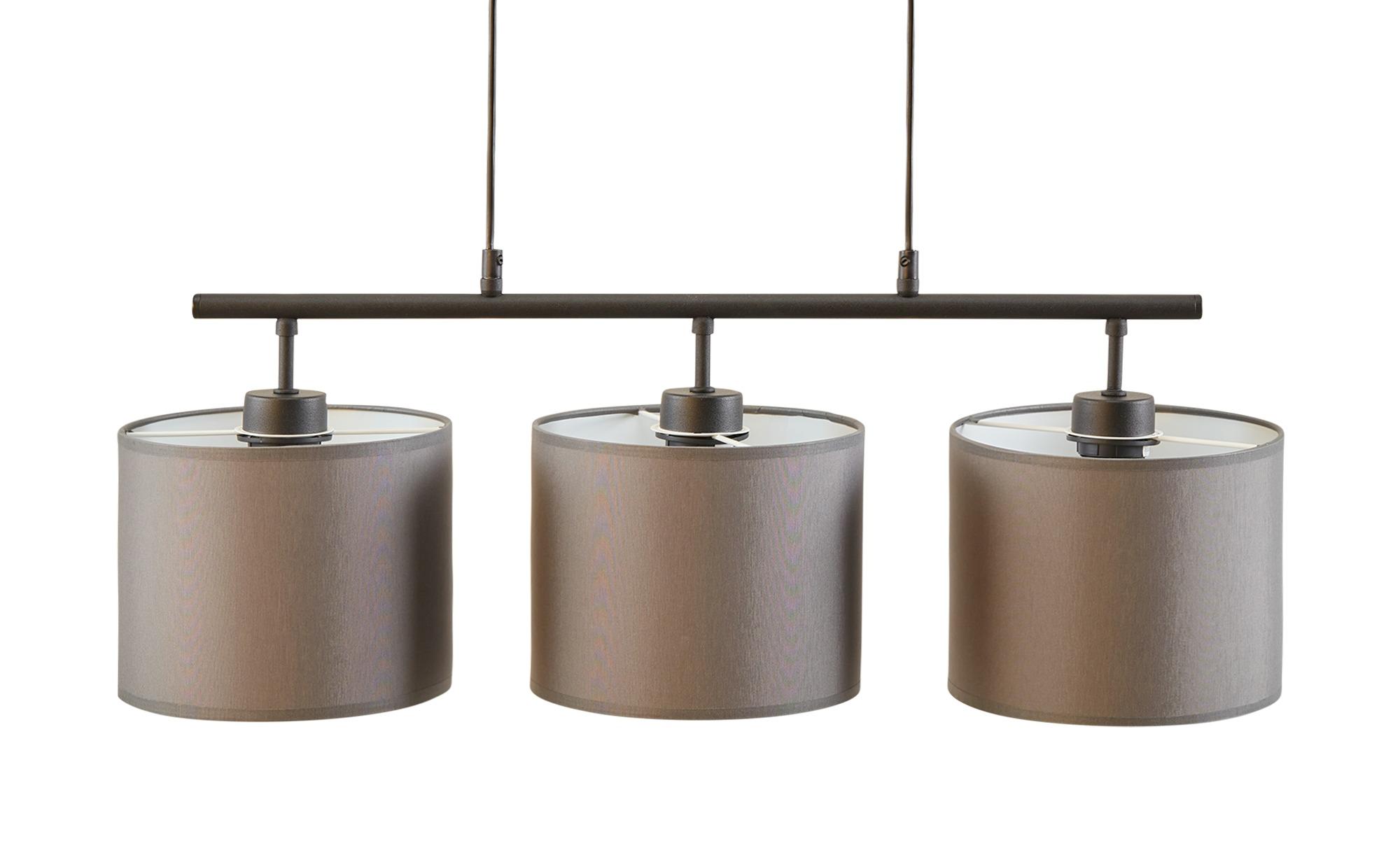 Pendelleuchte 3-flammig, Stoffschirme grau ¦ grau ¦ Maße (cm): B: 70 H: 80 Lampen & Leuchten > Innenleuchten > Pendelleuchten - Höffner