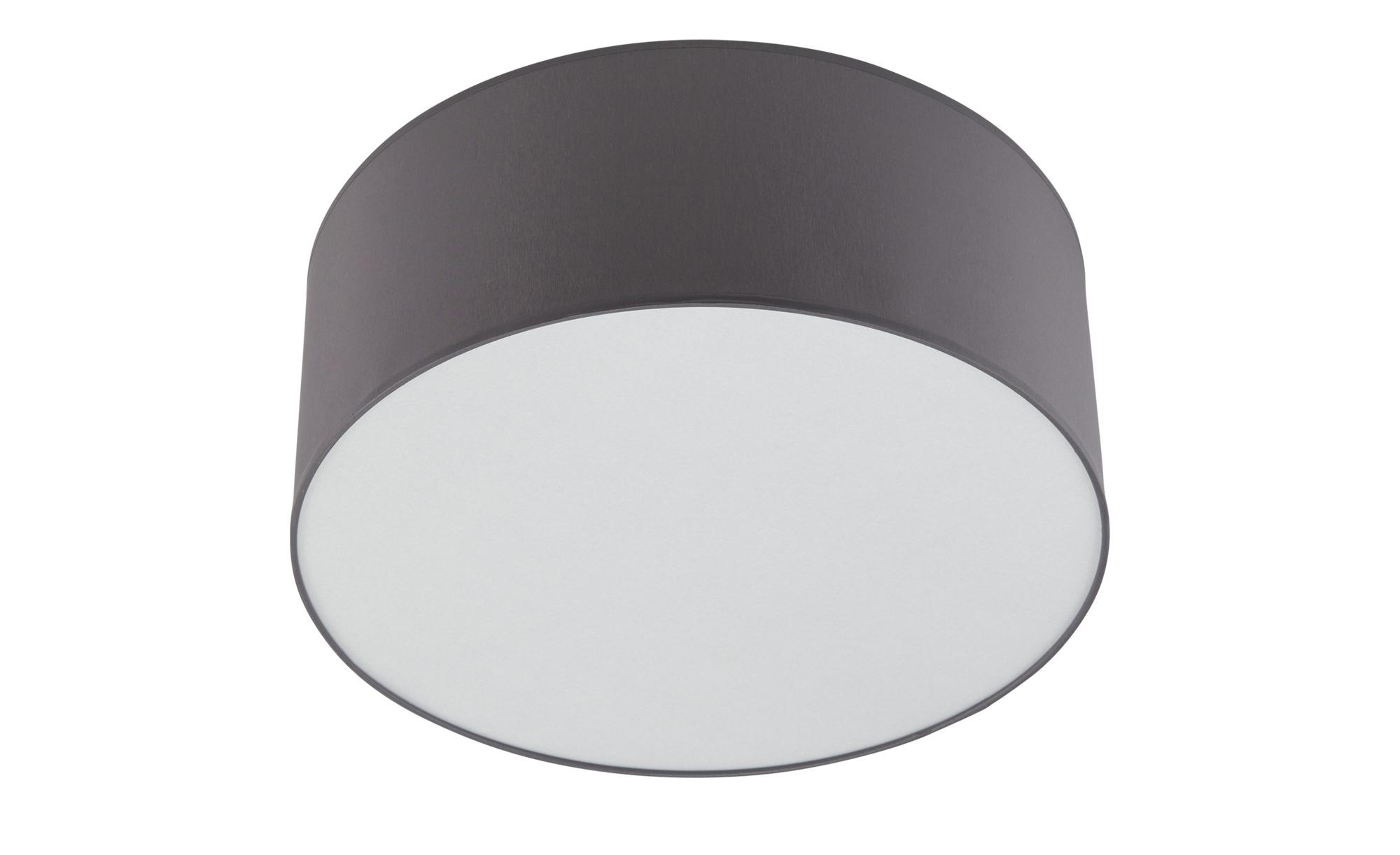 LED-Deckenleuchte, 1-flammig, Stoff grau ¦ grau ¦ Maße (cm): H: 20 Ø: 50 Lampen & Leuchten > Innenleuchten > Deckenleuchten - Höffner