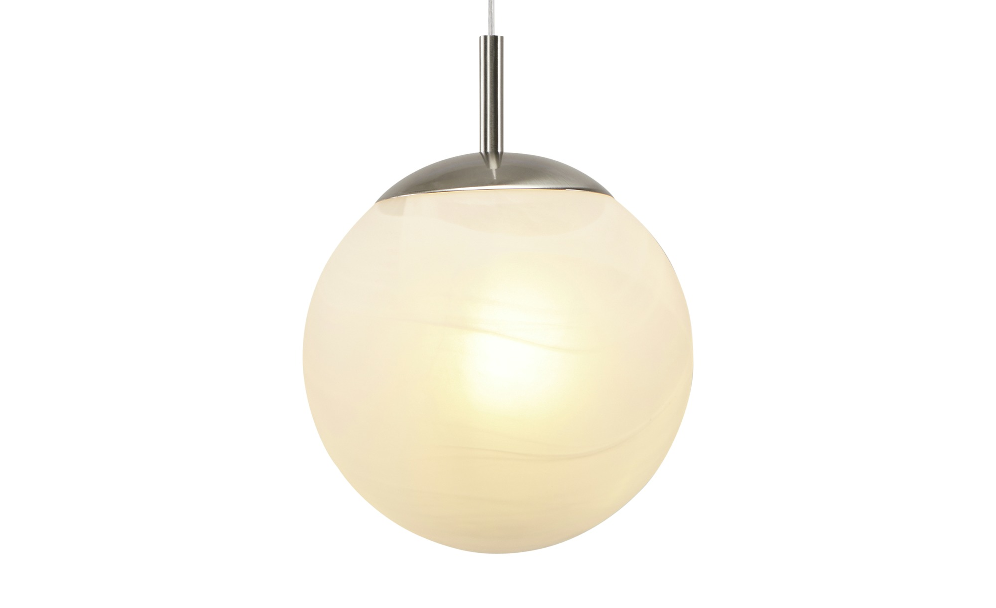 Pendelleuchte, 1-flammig, Kugel Alabaster weiß ¦ weiß ¦ Maße (cm): H: 100 Ø: 25 Lampen & Leuchten > Innenleuchten > Pendelleuchten - Höffner