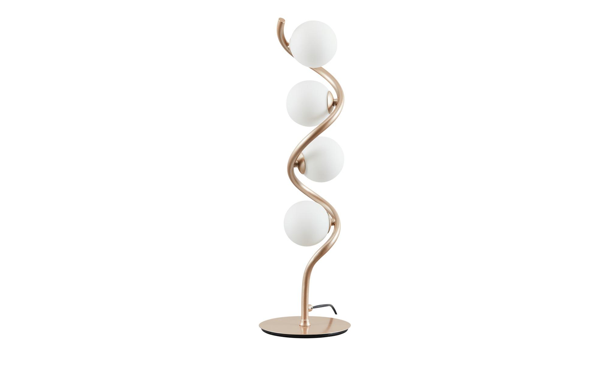 KHG LED-Tischleuchte,  4-flammig, goldfarben ¦ gold ¦ Maße (cm): B: 17 H: 55 Lampen & Leuchten > Innenleuchten > Tischlampen - Höffner