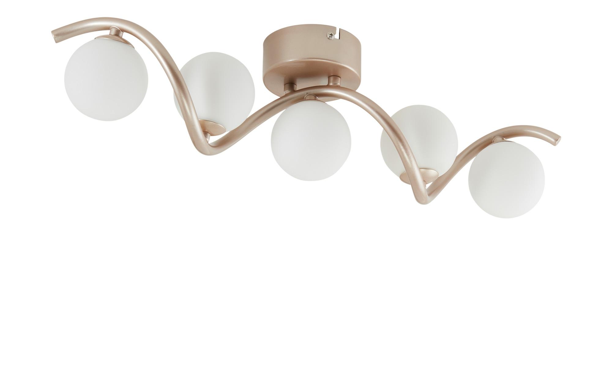 KHG LED-Deckenleuchte, 5-flammig, goldfarben/geschwungen ¦ gold ¦ Maße (cm): B: 12,2 H: 10 Lampen & Leuchten > Innenleuchten > Deckenleuchten - Höffner