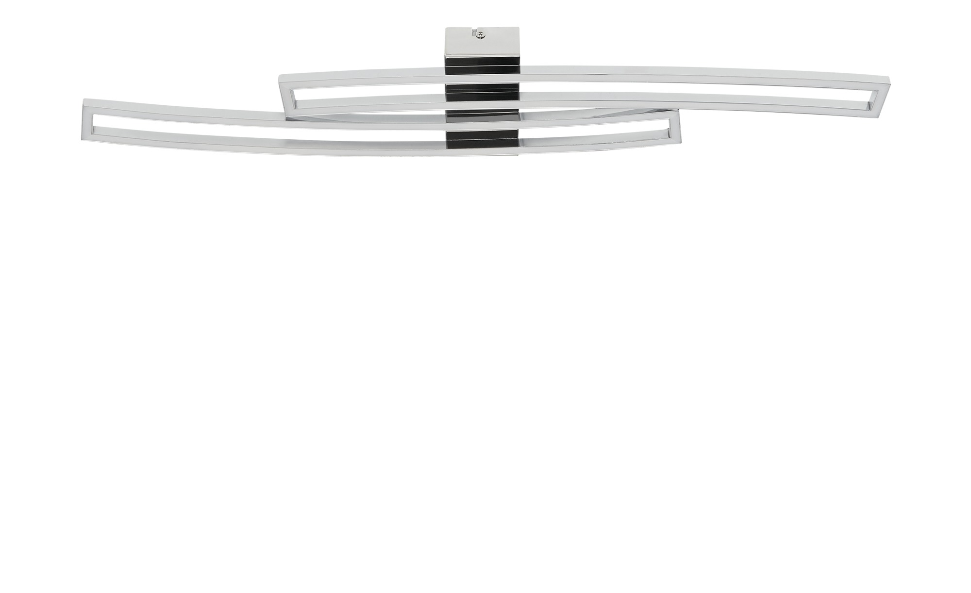 KHG LED-Deckenleuchte, 2-flammig, chrom / gebogen ¦ silber ¦ Maße (cm): B: 16 H: 5,5 Lampen & Leuchten > Innenleuchten > Deckenleuchten - Höffner