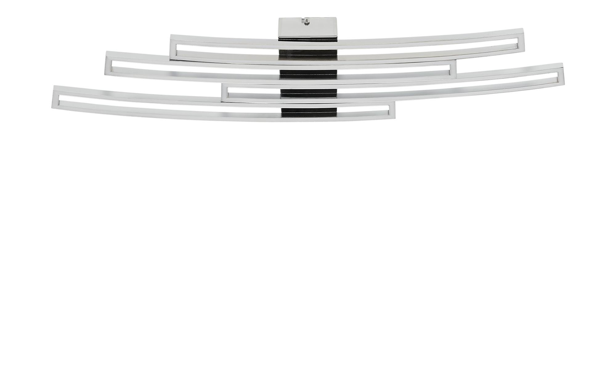 KHG LED-Deckenleuchte, 4-flammig, chrom / gebogen ¦ silber ¦ Maße (cm): B: 24,5 H: 5,5 Lampen & Leuchten > Innenleuchten > Deckenleuchten - Höffner