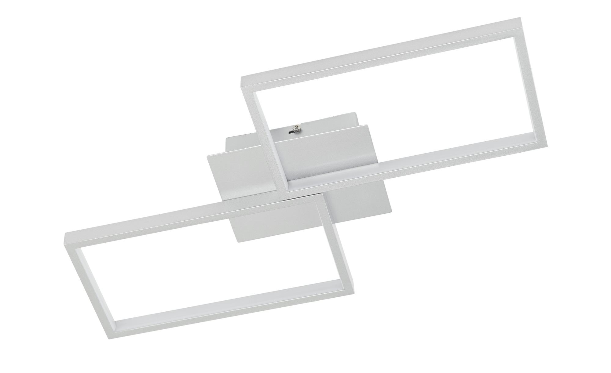 KHG LED-Deckenleuchte, 2-flammig, silberfarben ¦ silber ¦ Maße (cm): B: 28 H: 6 Lampen & Leuchten > Innenleuchten > Deckenleuchten - Höffner