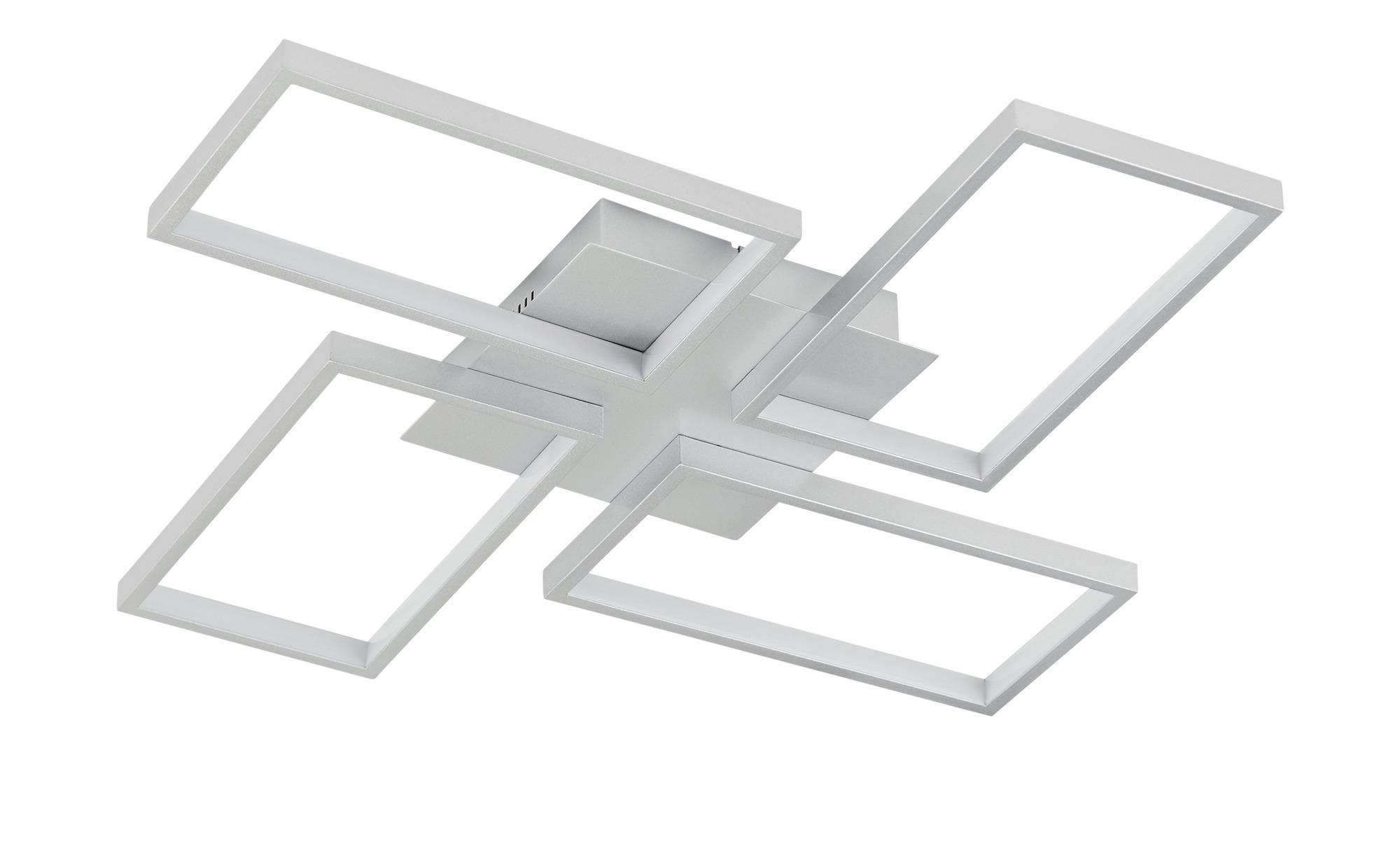 KHG LED-Deckenleuchte, 4-flammig, silberfarben ¦ silber ¦ Maße (cm): B: 54 H: 6 Lampen & Leuchten > Innenleuchten > Deckenleuchten - Höffner