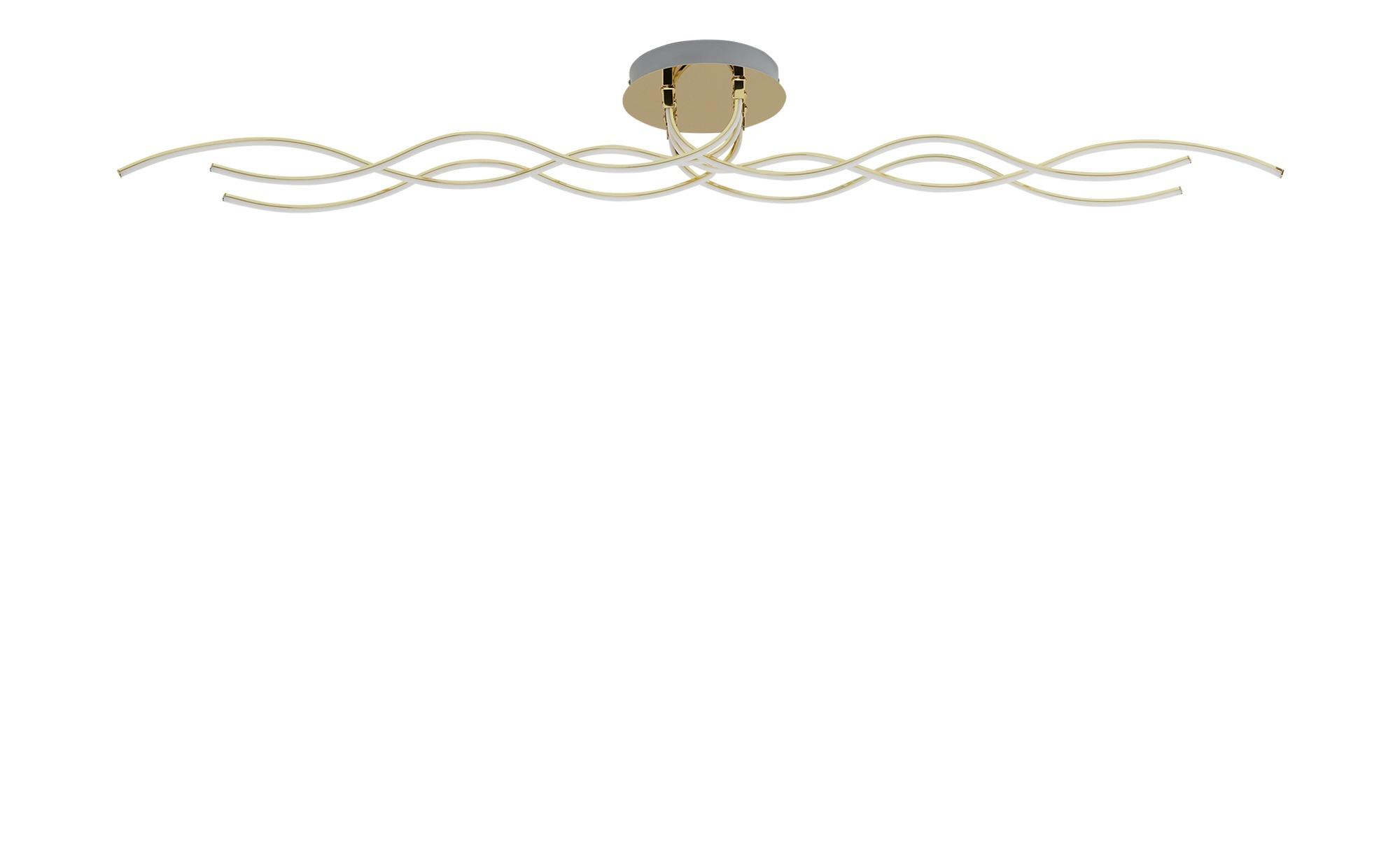 KHG LED-Deckenleuchte, 6-flammig, goldfarben ¦ gold ¦ Maße (cm): B: 20 H: 19 Lampen & Leuchten > Innenleuchten > Deckenleuchten - Höffner