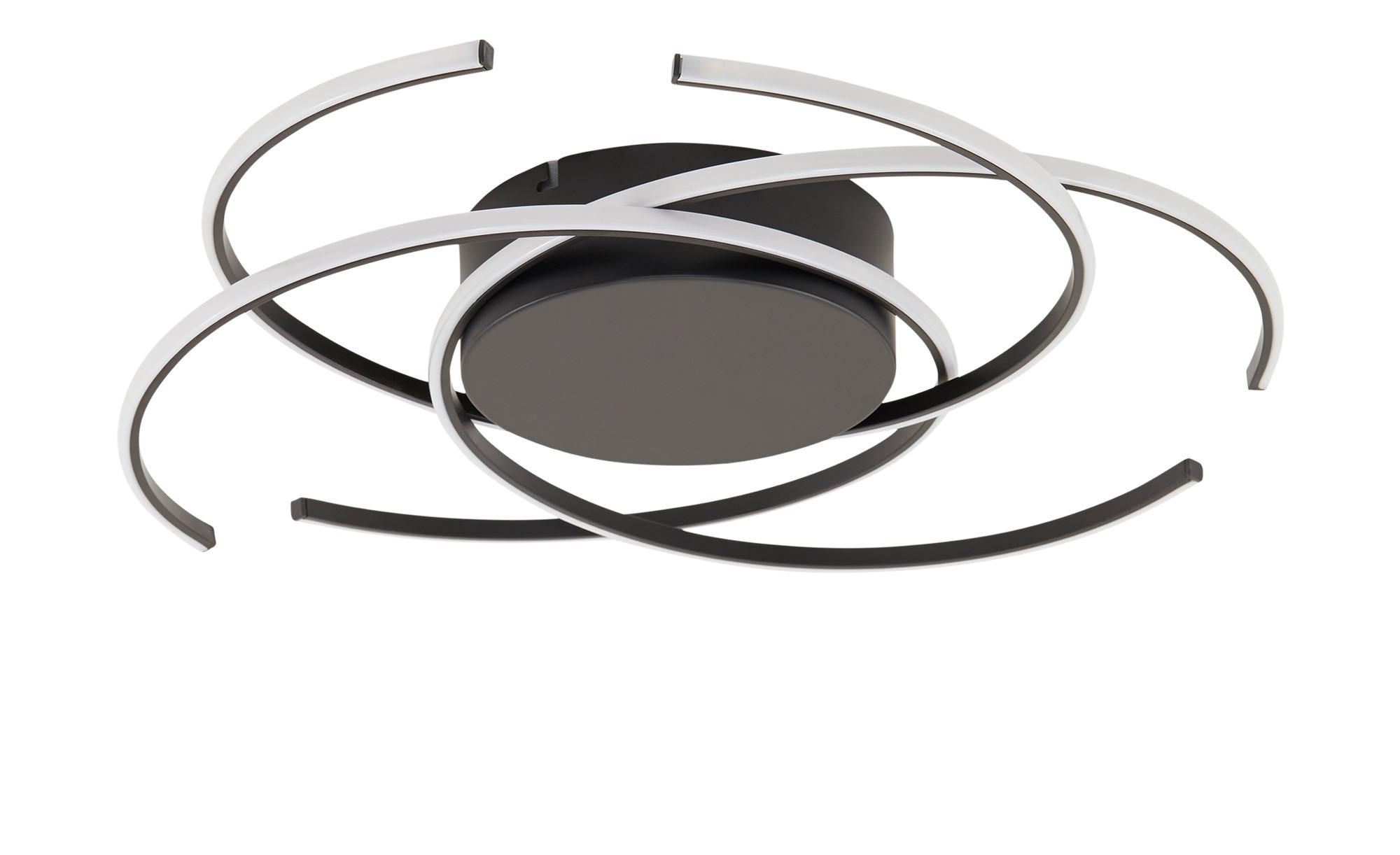 KHG LED-Deckenleuchte, 3-flammig, schwarz ¦ schwarz ¦ Maße (cm): H: 12 Ø: 50 Lampen & Leuchten > Innenleuchten > Deckenleuchten - Höffner