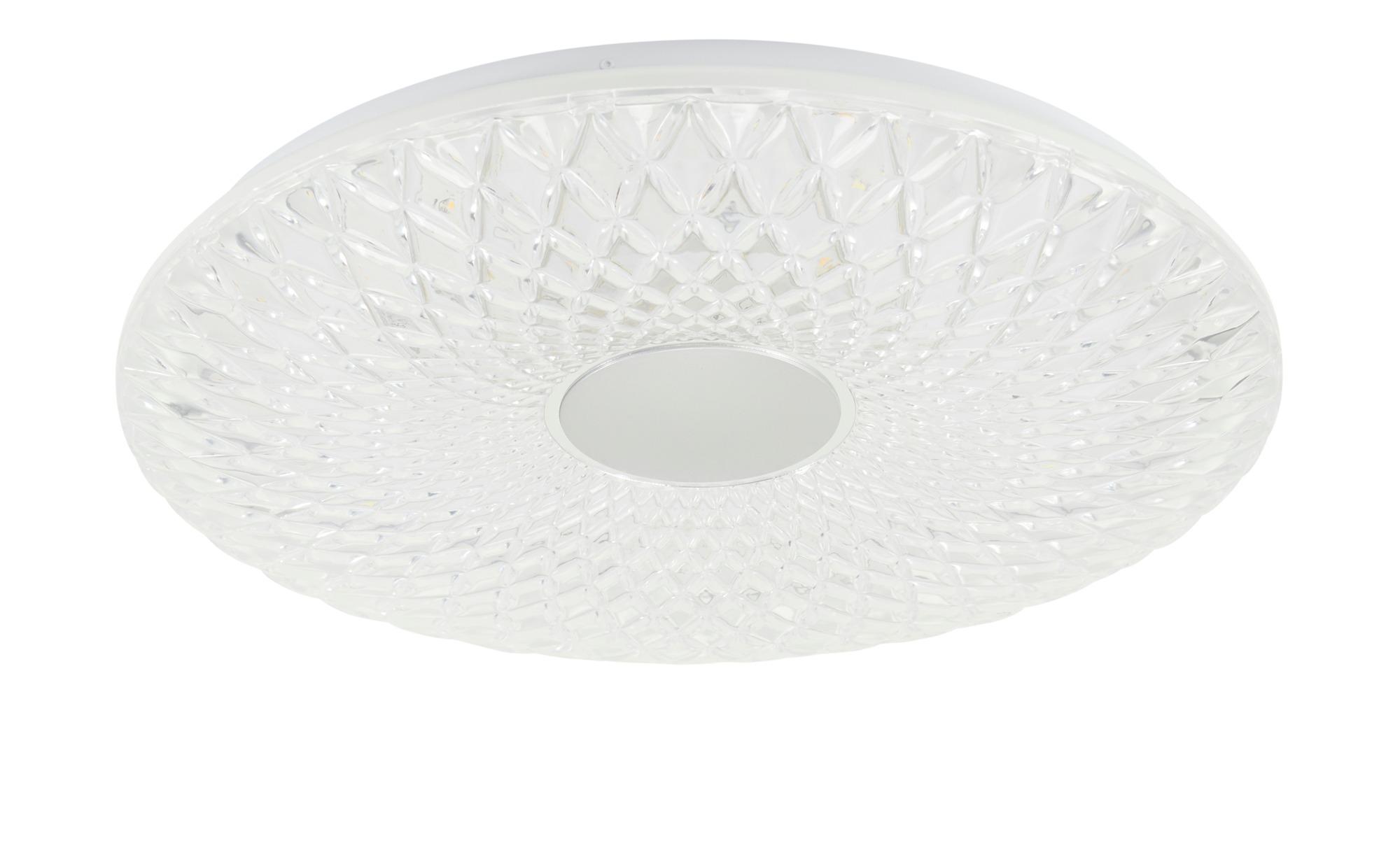 KHG LED-Deckenleuchte, 1-flammig, Kristalloptik ¦ transparent/klar ¦ Maße (cm): H: 8 Ø: 50 Lampen & Leuchten > Innenleuchten > Deckenleuchten - Höffner