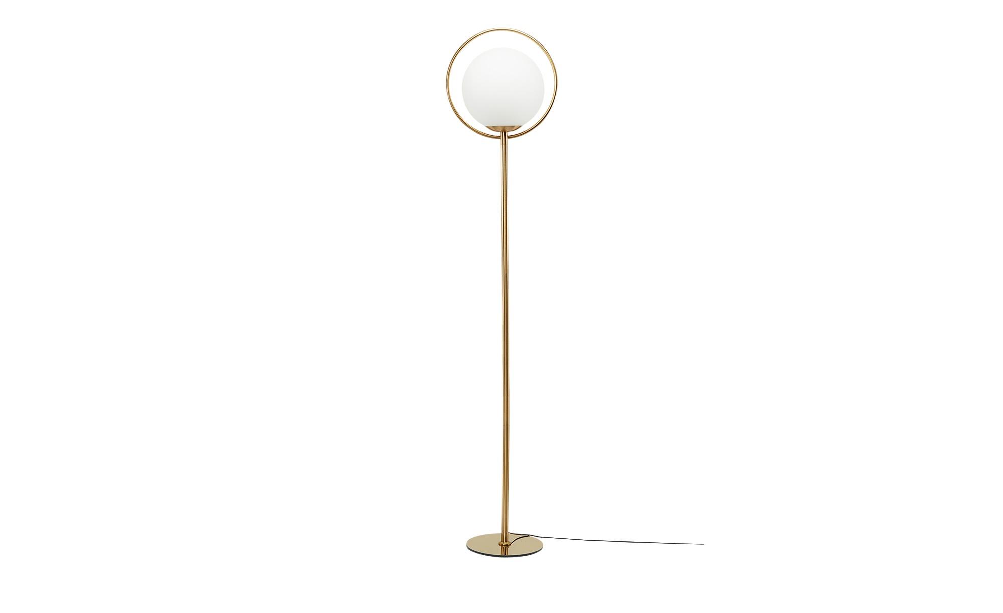 KHG Stehleuchte, 1-flammig, altmessing ¦ gold ¦ Maße (cm): B: 23 H: 168 Lampen & Leuchten > Innenleuchten > Stehlampen - Höffner