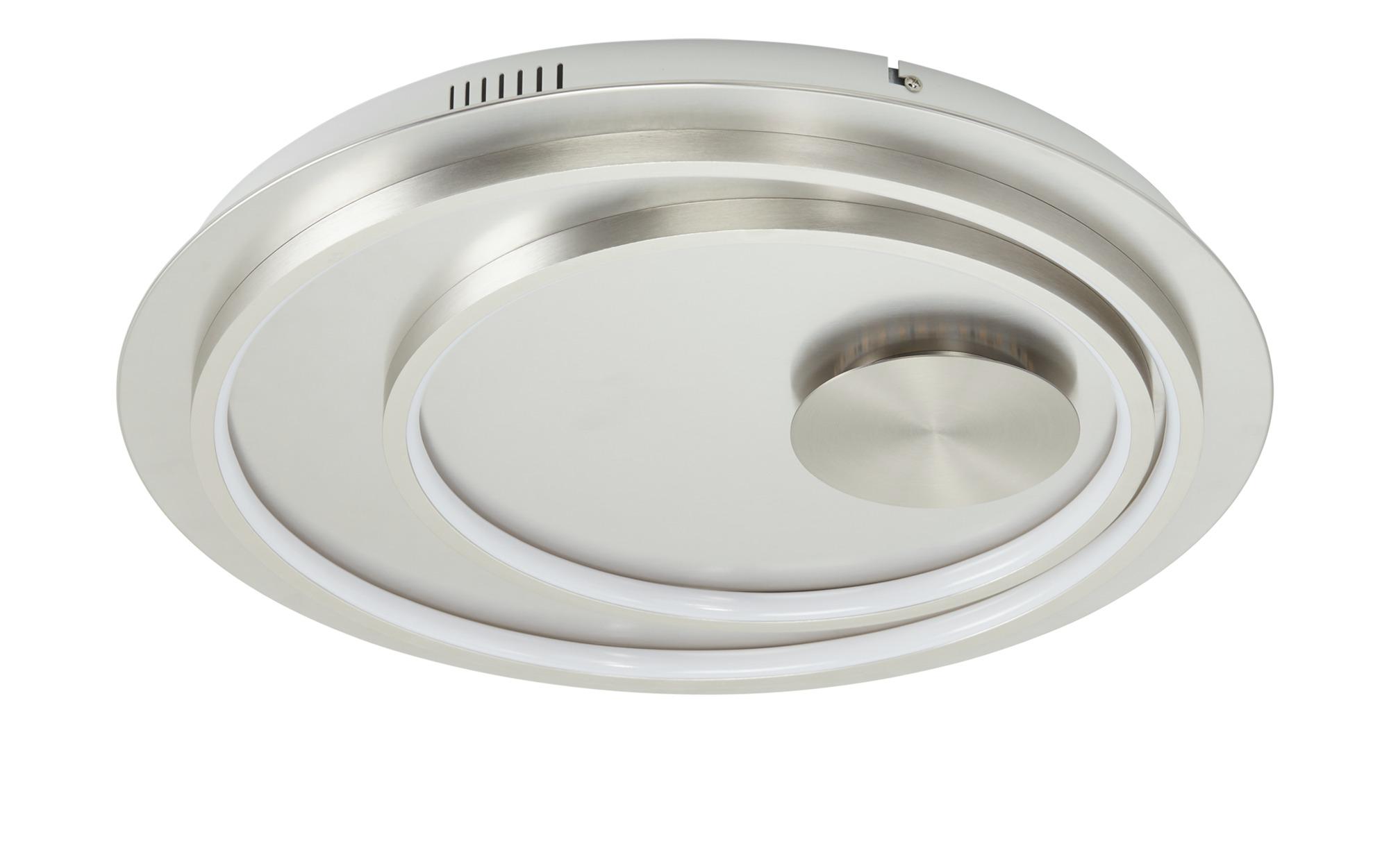KHG LED-Deckenleuchte, 1-flammig, nickel-matt ¦ silber ¦ Maße (cm): H: 5 Ø: 48 Lampen & Leuchten > Innenleuchten > Deckenleuchten - Höffner