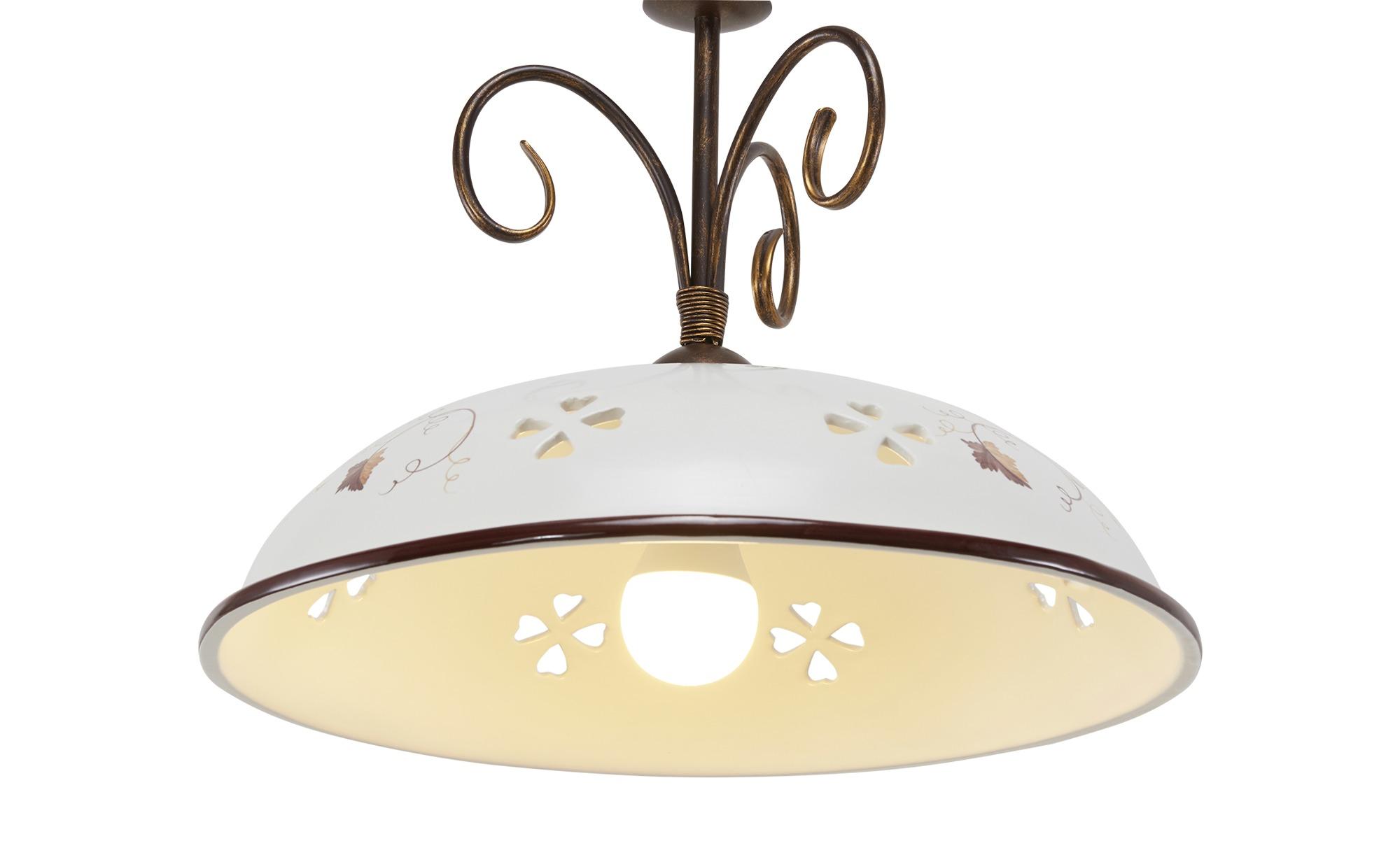 Keramikpendelleuchte, 1-flammig weiß-matt ¦ weiß ¦ Maße (cm): H: 100 Ø: 44 Lampen & Leuchten > Innenleuchten > Pendelleuchten - Höffner