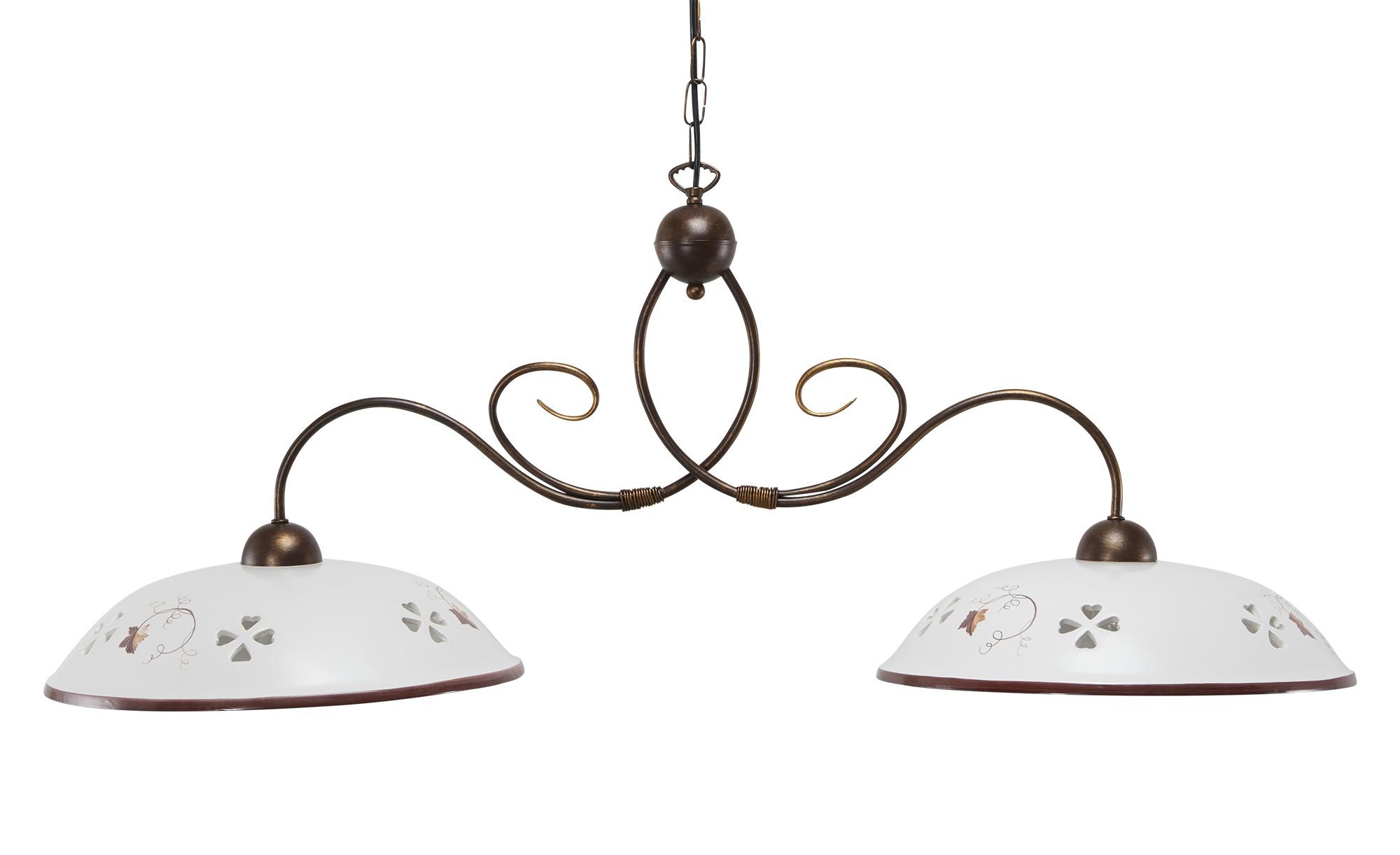 Keramikpendelleuchte, 2-flammig, weiß ¦ weiß ¦ Maße (cm): B: 102 H: 100 Lampen & Leuchten > Innenleuchten > Pendelleuchten - Höffner