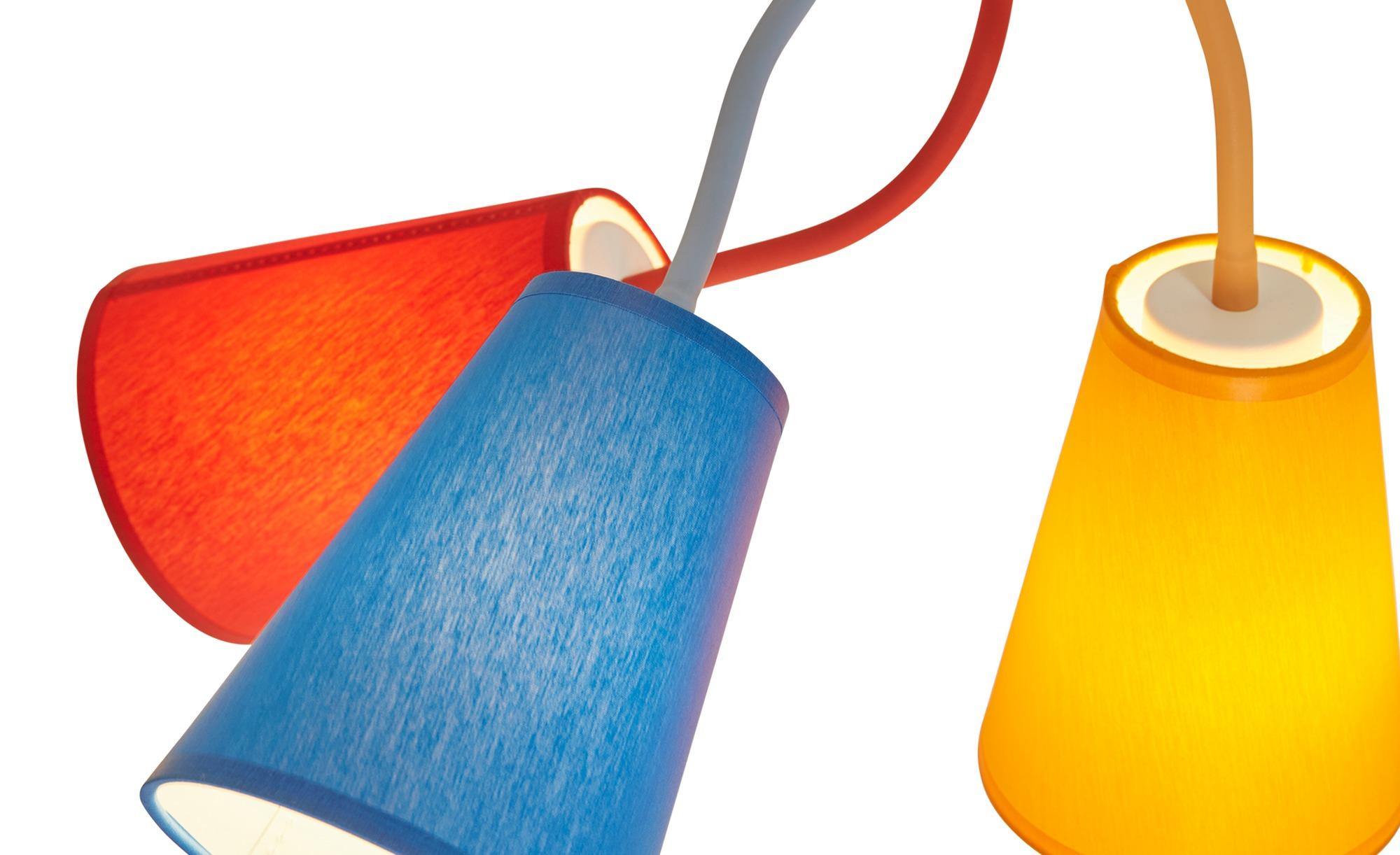 Deckenleuchte, 5-flammig, Schirme bunt ¦ mehrfarbig ¦ Maße (cm): H: 59 Ø: 106 Lampen & Leuchten > Innenleuchten > Deckenleuchten - Höffner