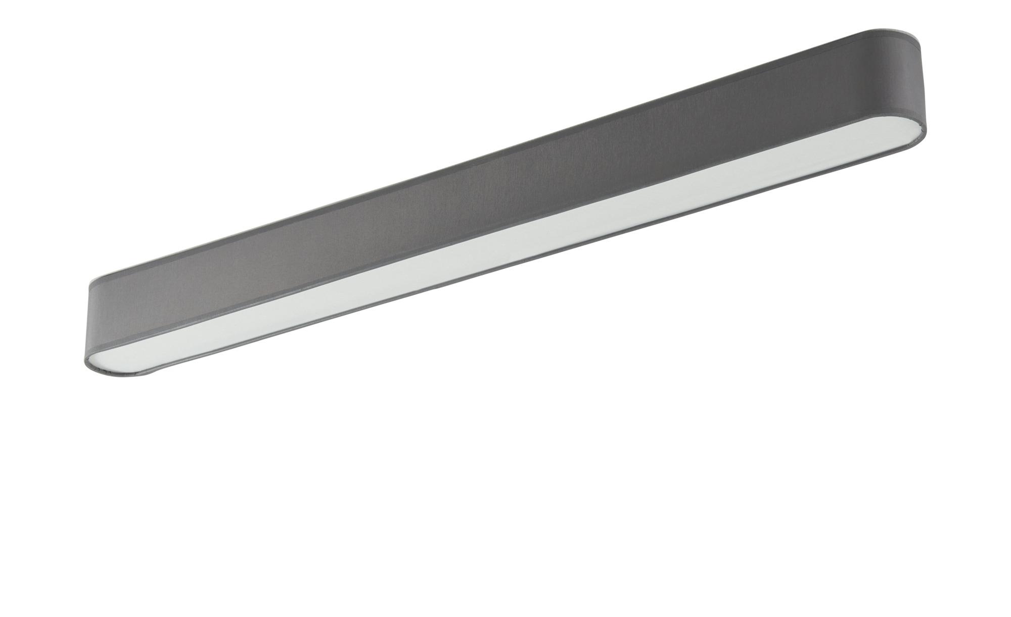 LED-Deckenleuchte, 1-flammig, Stoffschirm grau ¦ grau ¦ Maße (cm): B: 8 H: 9 Lampen & Leuchten > Innenleuchten > Deckenleuchten - Höffner
