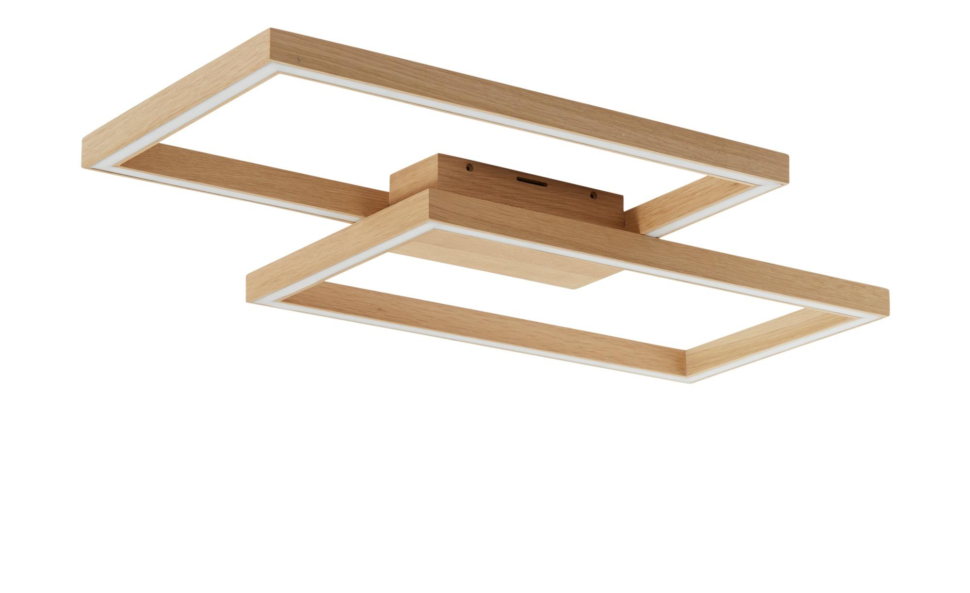 LED-Deckenleuchte, 2-flammig, Eiche geölt, groß ¦ holzfarben ¦ Maße (cm): B: 75 Lampen & Leuchten > Innenleuchten > Deckenleuchten - Höffner
