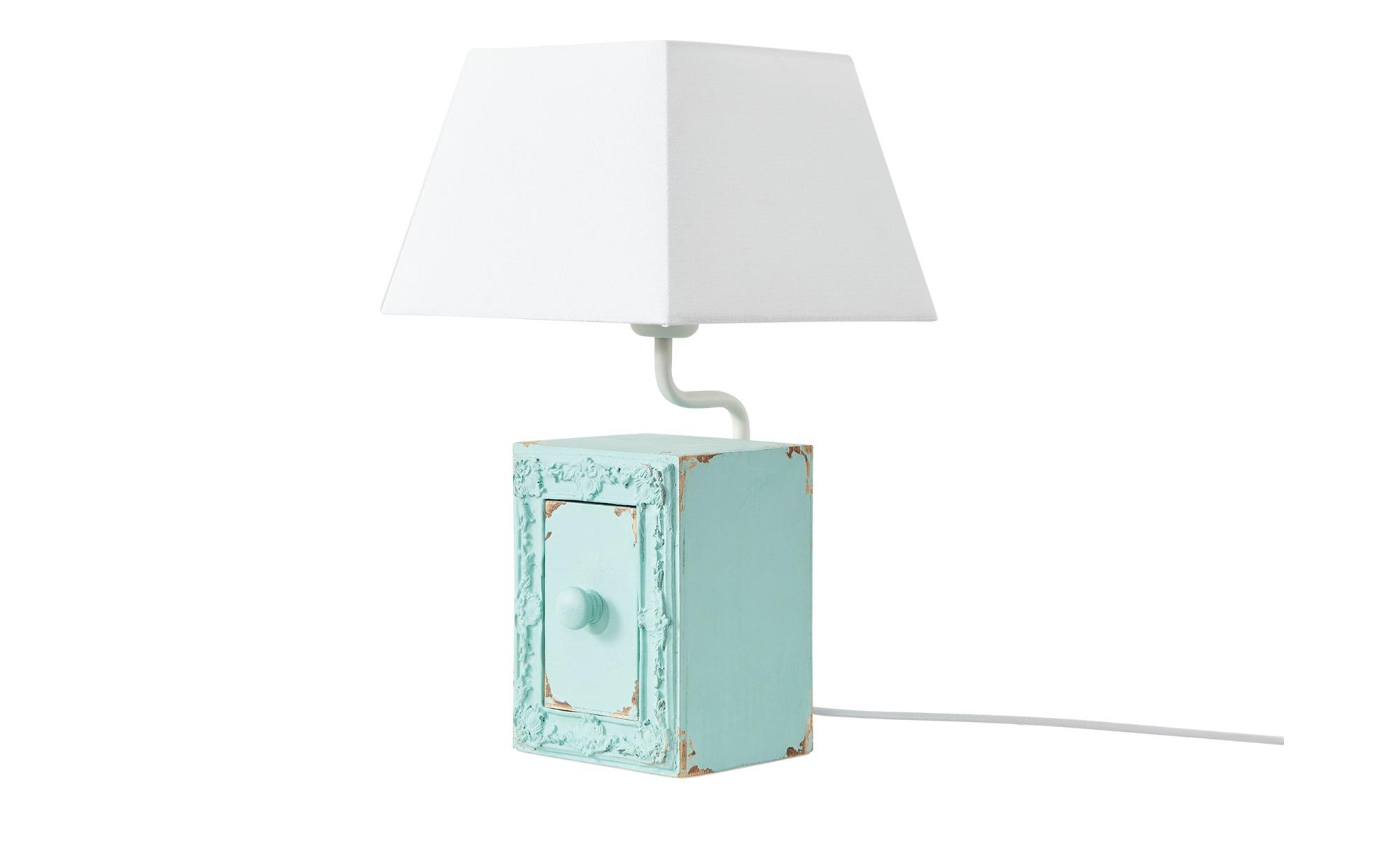 Tischleuchte, 1-flammig, blau mit Schublade ¦ blau ¦ Maße (cm): H: 44 Lampen & Leuchten > Innenleuchten > Tischlampen - Höffner