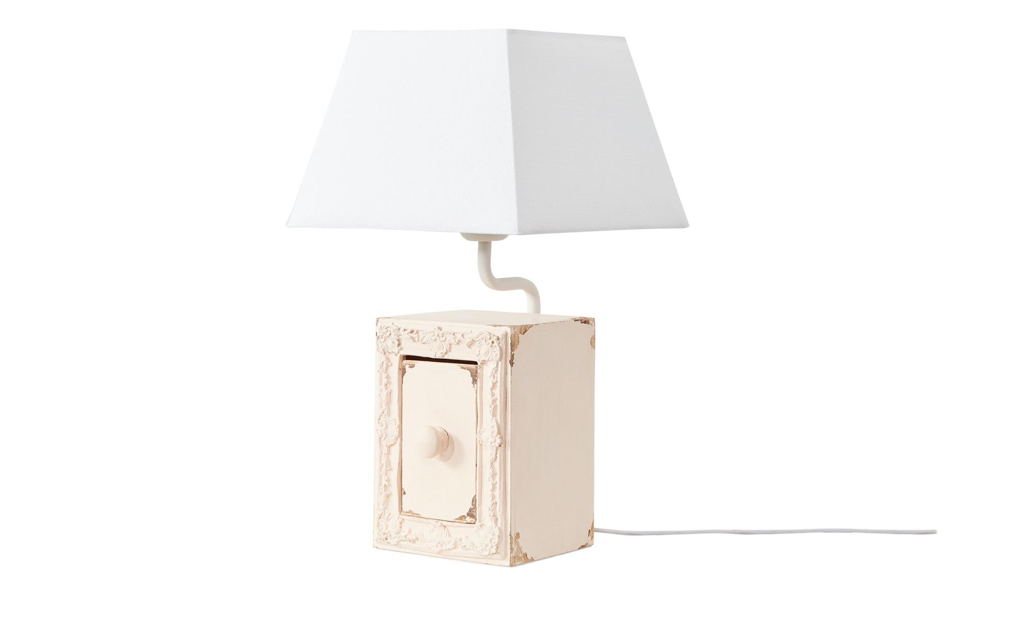 Tischleuchte, 1-flammig, rosa mit Schublade ¦ rosa/pink ¦ Maße (cm): H: 44 Lampen & Leuchten > Innenleuchten > Tischlampen - Höffner