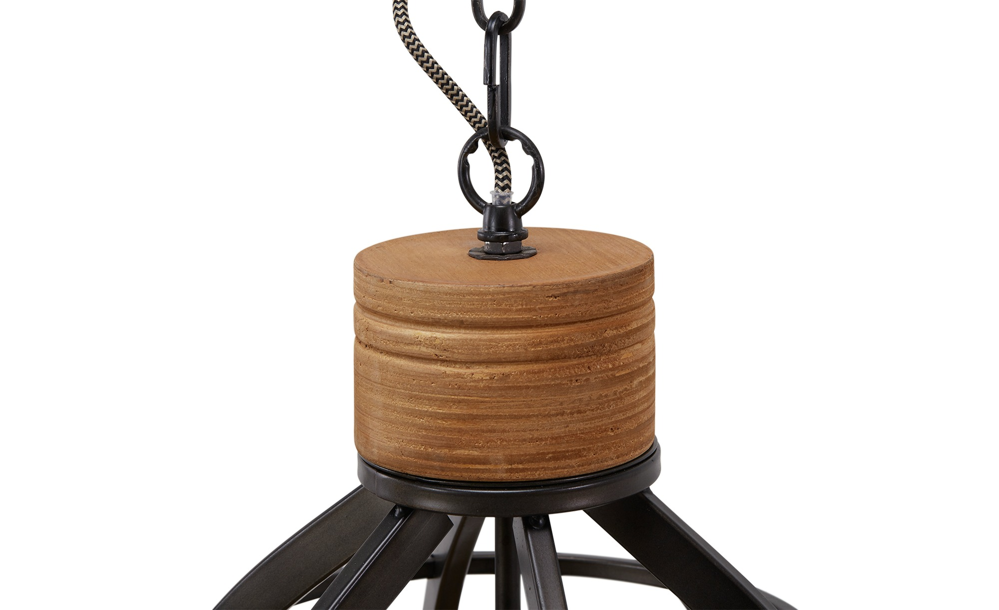 Pendelleuchte, 3-flammig, Metall schwarz ¦ schwarz ¦ Maße (cm): B: 135 Lampen & Leuchten > Innenleuchten > Pendelleuchten - Höffner