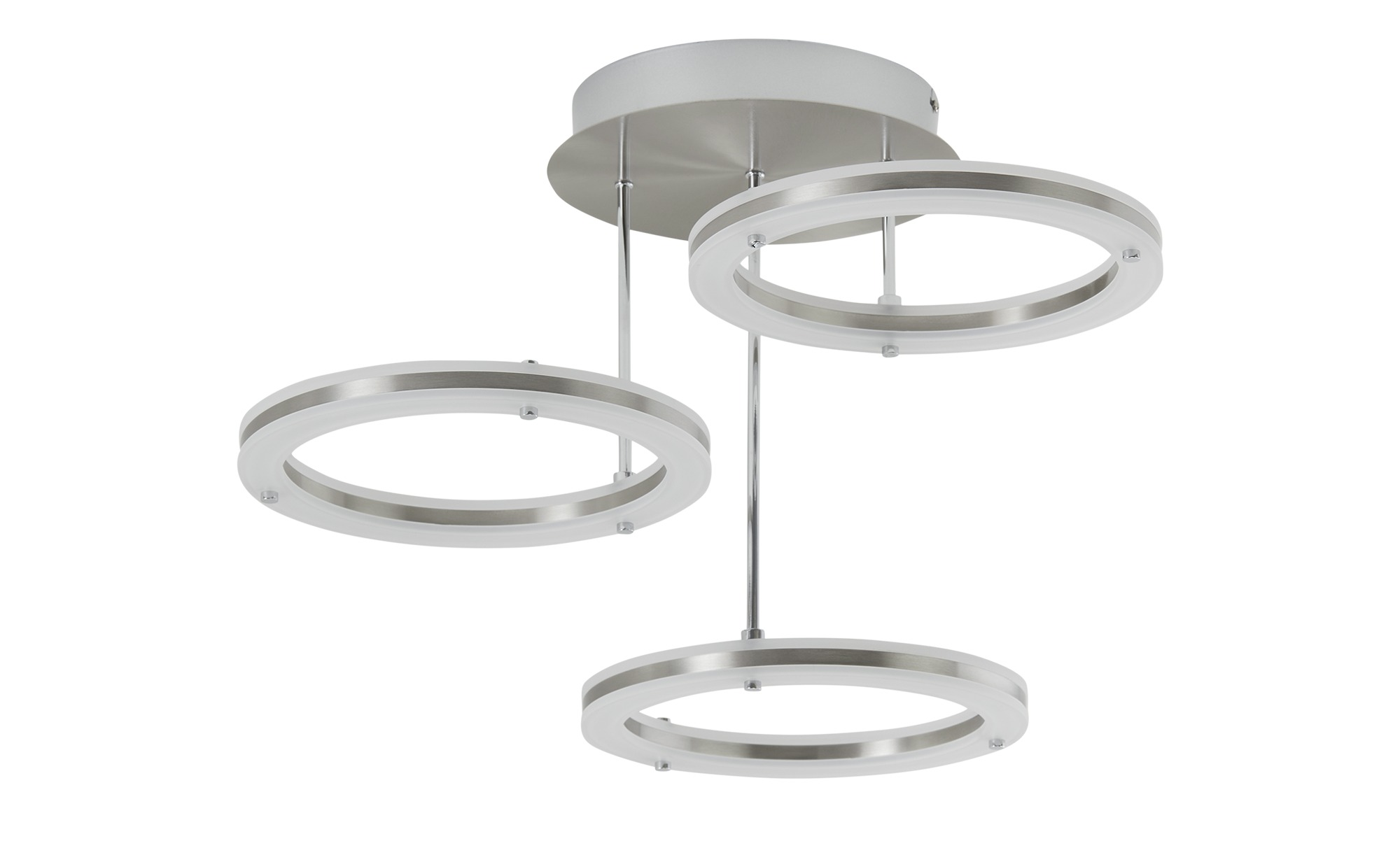 LED-Deckenleuchte, 3-flammig, Alu-matt ¦ silber ¦ Maße (cm): H: 37 Ø: 55 Lampen & Leuchten > Innenleuchten > Deckenleuchten - Höffner