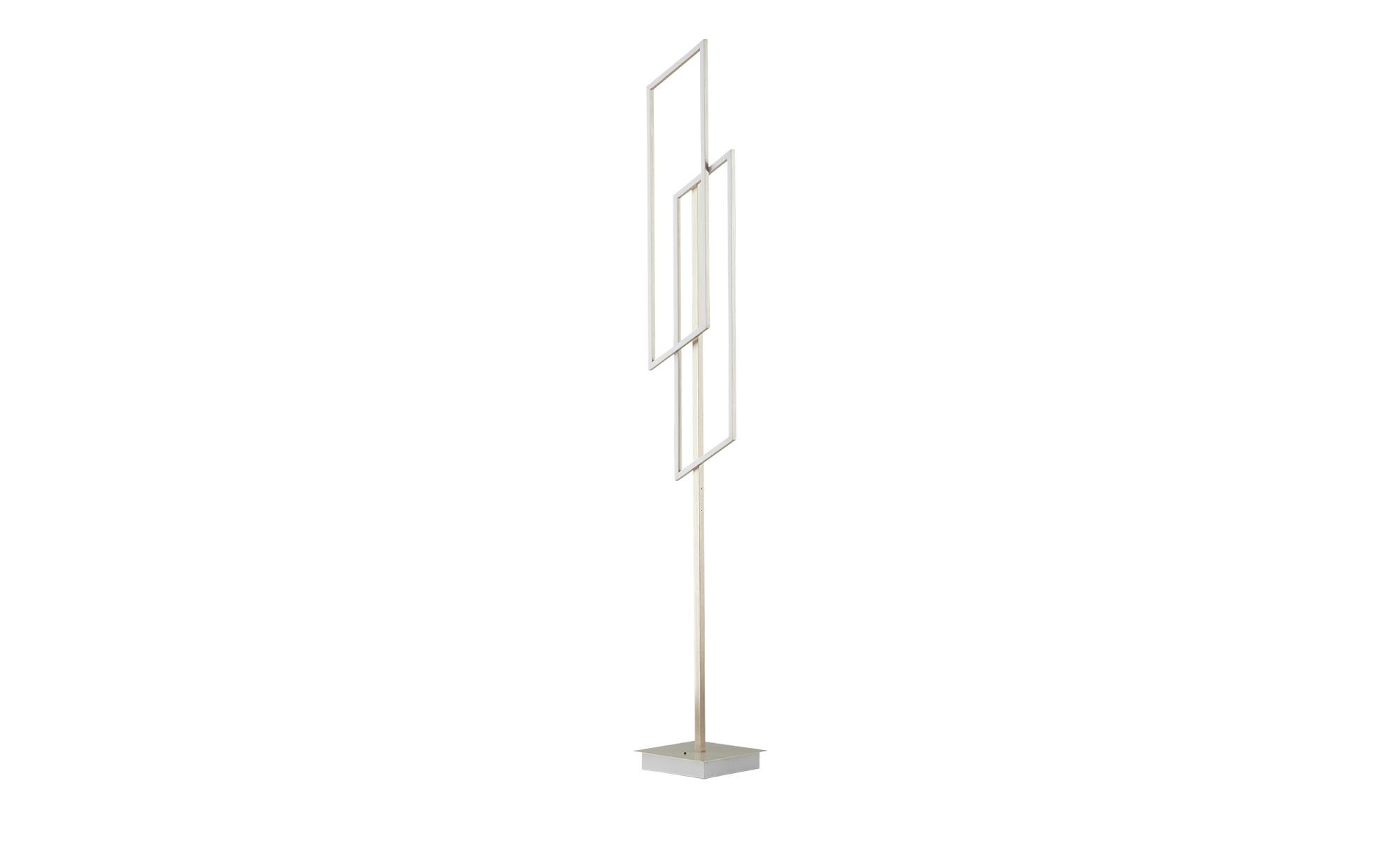 Paul Neuhaus LED-Stehleuchte, 2-flammig, `Rechtecke´ ¦ silber ¦ Maße (cm): B: 22 H: 165 Lampen & Leuchten > Innenleuchten > Stehlampen - Höffner