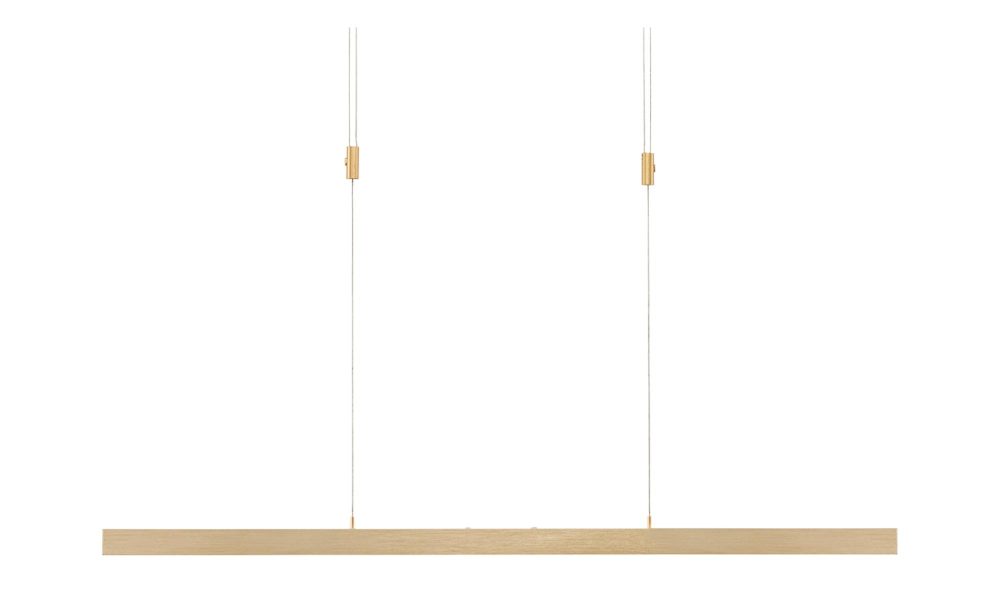 Paul Neuhaus LED-Pendelleuchte, messing-matt mit Touchdimmer ¦ gold ¦ Maße (cm): B: 42 H: 190 Lampen & Leuchten > LED-Leuchten > LED-Pendelleuchten - Höffner