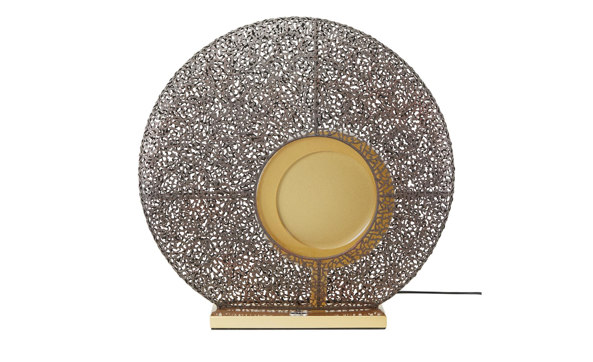 Fischer-Honsel LED-Tischleuchte, 1-flammig, rost -/ goldfarben ¦ gold ¦ Metall ¦ Maße (cm): B: 14 H: 40 Lampen & Leuchten > Innenleuchten > Tischlampen - Höffner