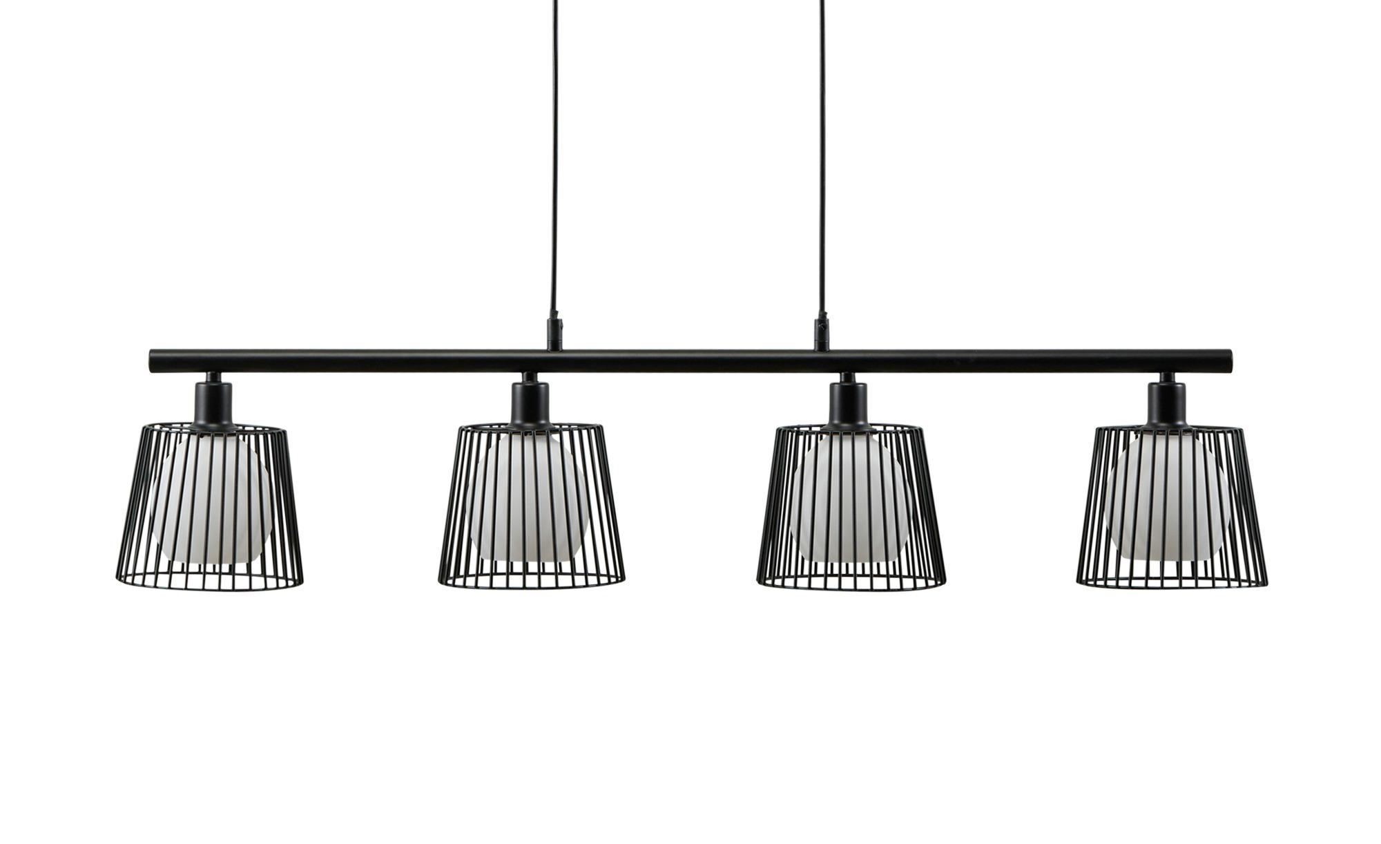 Pendelleuchte, 4-flammig, Draht/schwarz ¦ schwarz ¦ Maße (cm): H: 200 Lampen & Leuchten > Innenleuchten > Pendelleuchten - Höffner