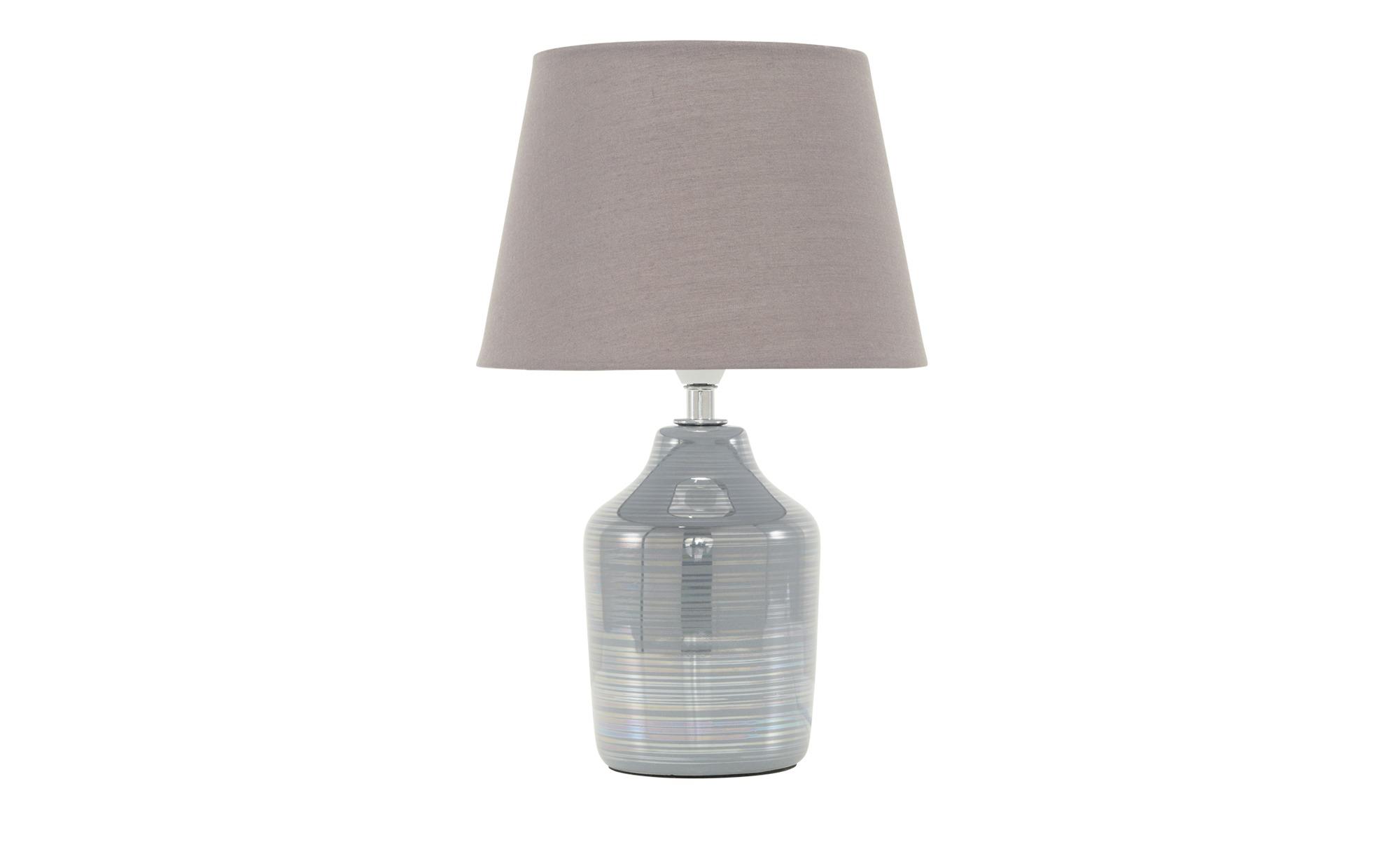 Keramik-Tischleuchte, 1-flammig, grau ¦ grau ¦ Maße (cm): H: 14 Ø: 30 Lampen & Leuchten > Innenleuchten > Tischlampen - Höffner