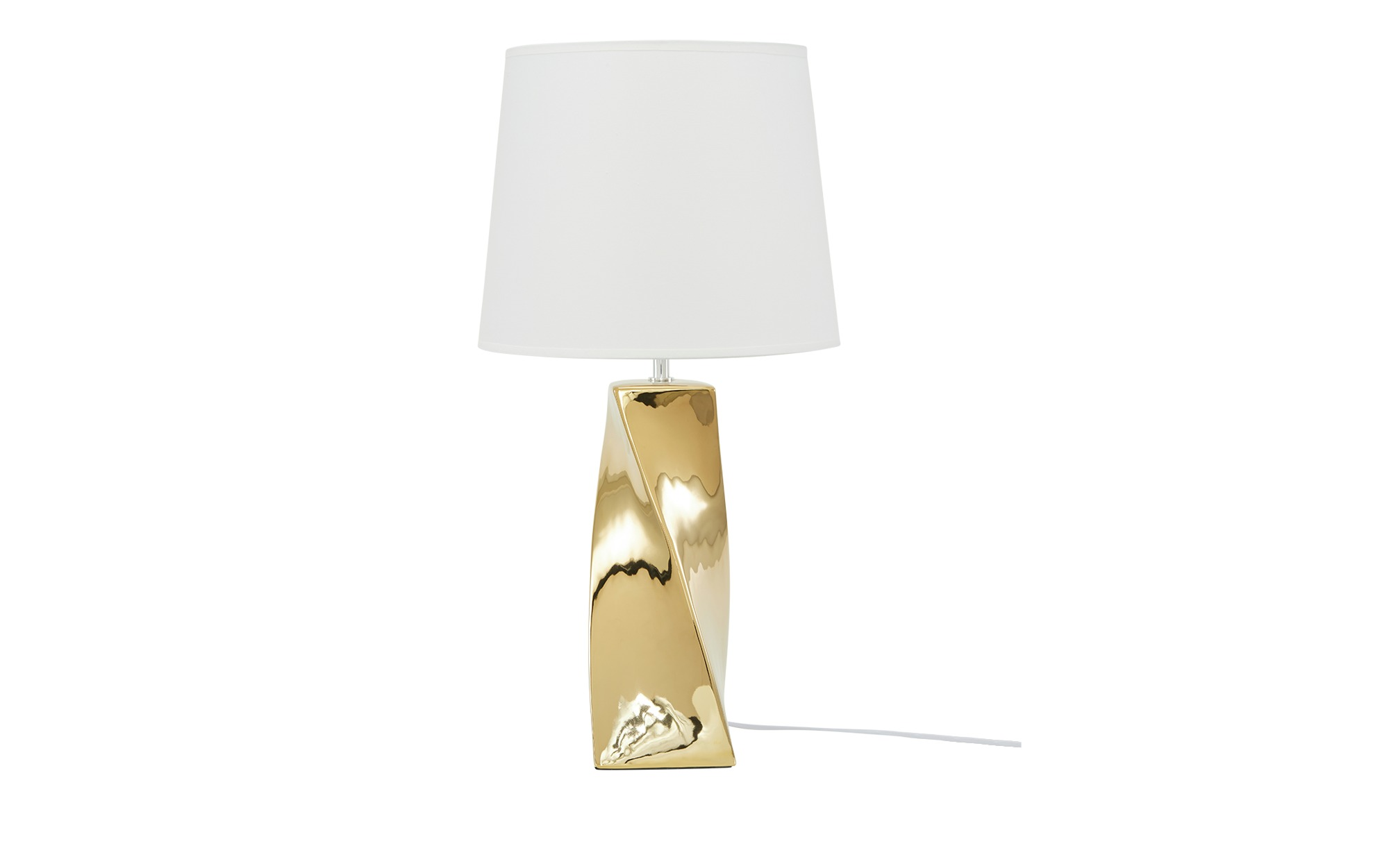 Keramik-Tischleuchte, 1-flammig, goldfarben groß ¦ gold ¦ Maße (cm): H: 68 Ø: 34 Lampen & Leuchten > Innenleuchten > Tischlampen - Höffner