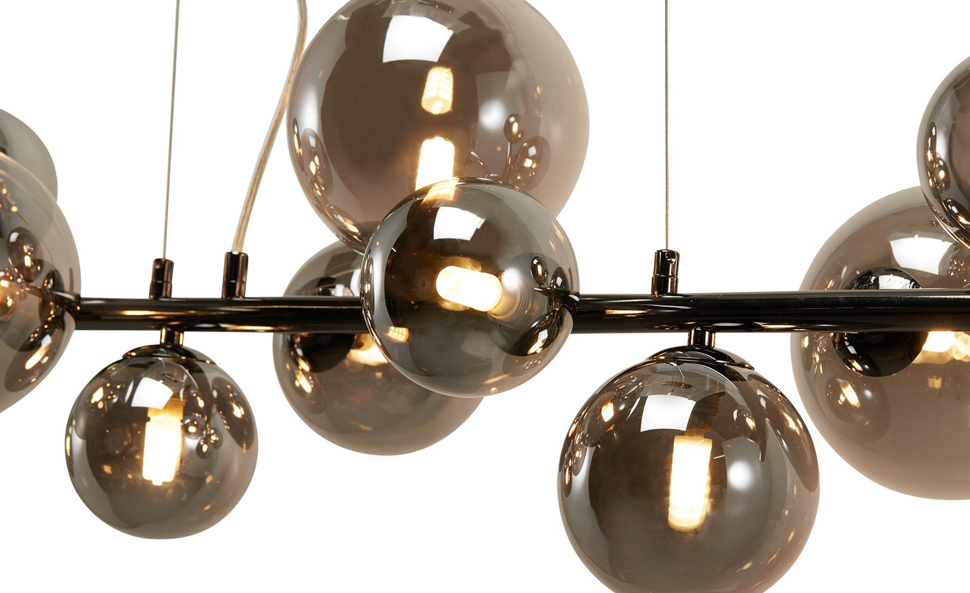 Wofi Pendelleuchte, 10-flammig, Schwarz / Chrom ¦ schwarz ¦ Maße (cm): B: 86 H: 150 T: 24,5 Lampen & Leuchten > LED-Leuchten > LED-Pendelleuchten - Höffner