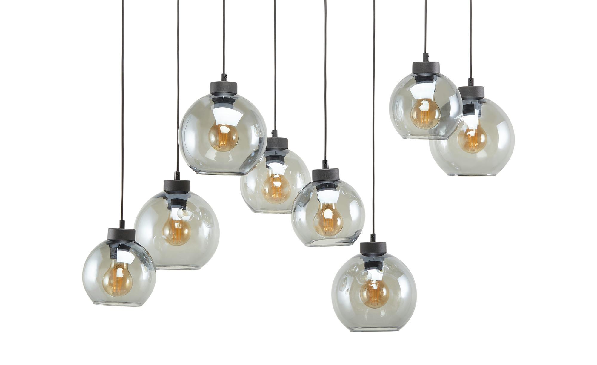 Pendelleuchte, 8-flammig, schwarz/graphitfarben ¦ schwarz ¦ Maße (cm): H: 120 Lampen & Leuchten > Innenleuchten > Pendelleuchten - Höffner