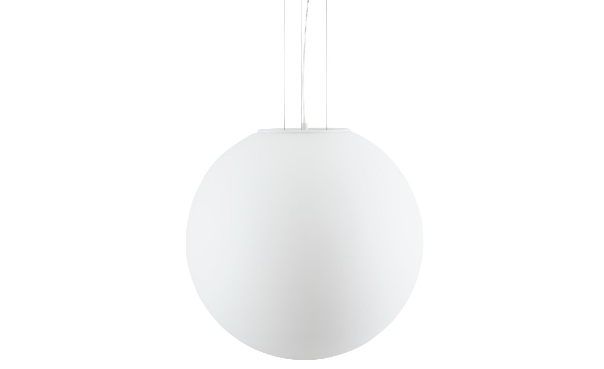 Pendelleuchte, Glaskugel weiß ¦ weiß ¦ Maße (cm): H: 110 Ø: 50 Lampen & Leuchten > Innenleuchten > Pendelleuchten - Höffner