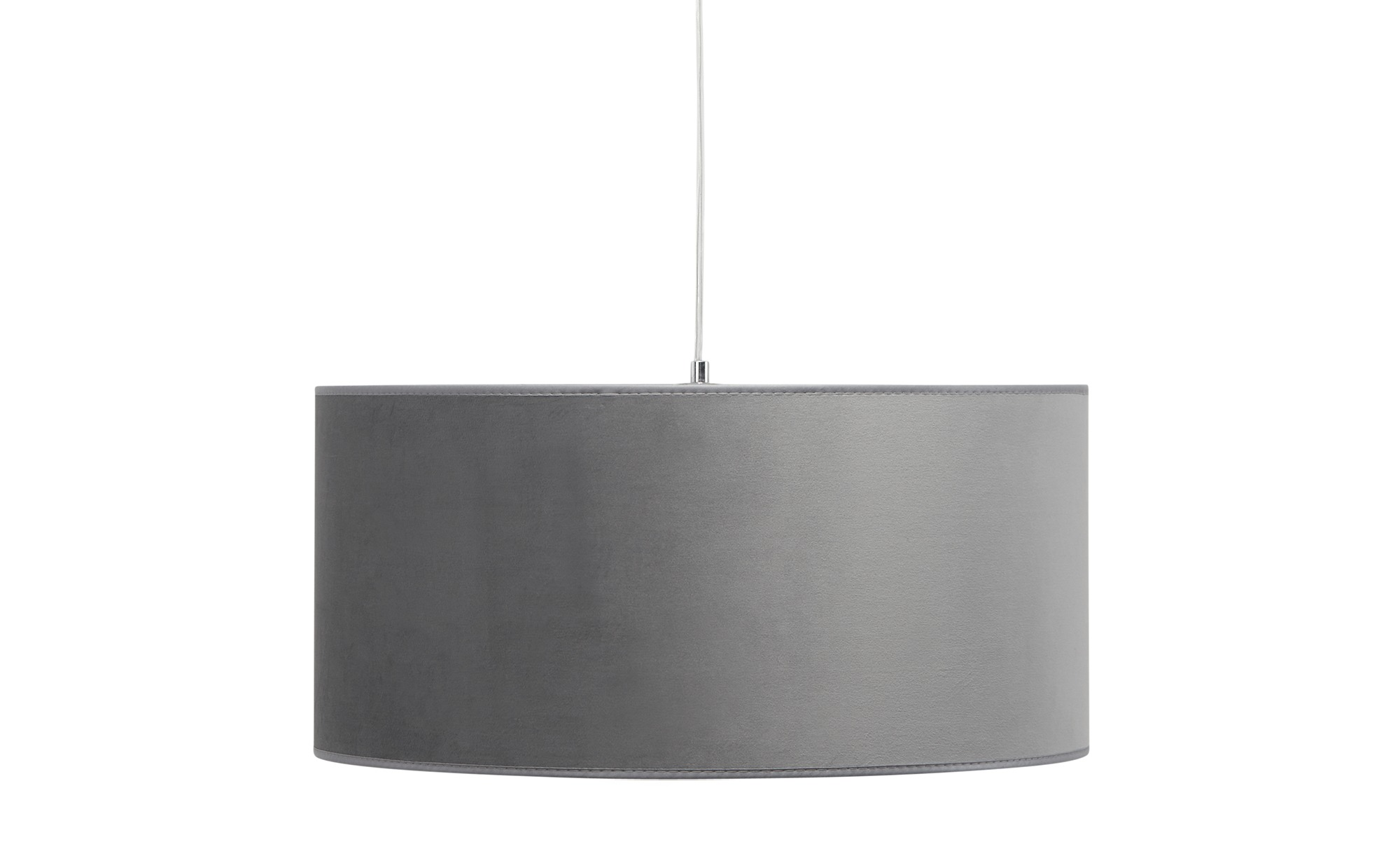 Pendelleuchte, 1-flammig, Samt grau ¦ grau ¦ Maße (cm): H: 24 Ø: 50 Lampen & Leuchten > Innenleuchten > Pendelleuchten - Höffner