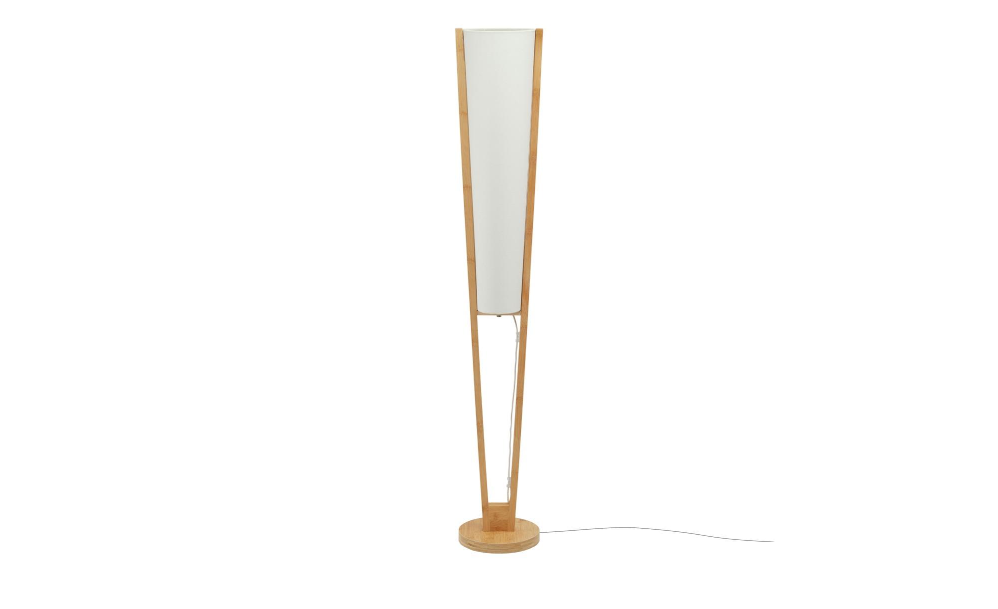 KHG Stehleuchte, 2-flammig, Bambus ¦ holzfarben ¦ Maße (cm): H: 150 Ø: 24 Lampen & Leuchten > Innenleuchten > Stehlampen - Höffner