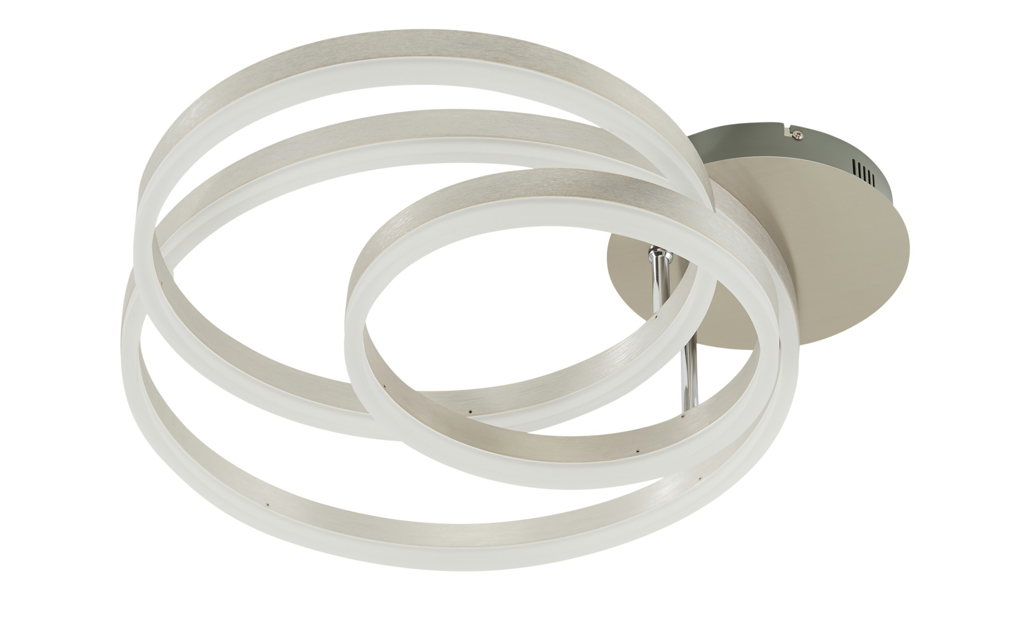 Meisterleuchten LED-Deckenleuchte, 3-flammig, Nickel matt `Ringe´ ¦ silber ¦ Maße (cm): B: 30 H: 14 Lampen & Leuchten > Innenleuchten > Deckenleuchten - Höffner