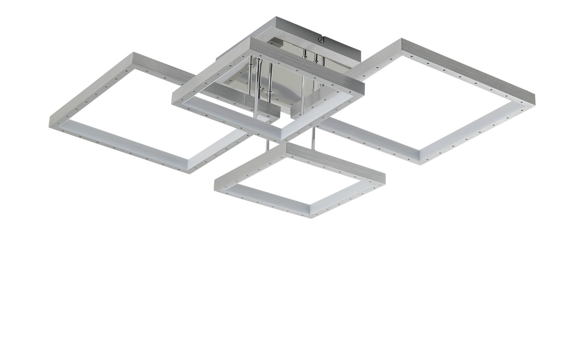 KHG LED-Deckenleuchte, 4-flammig, chrom/Alu ¦ silber ¦ Maße (cm): B: 59,5 H: 15 Lampen & Leuchten > Innenleuchten > Deckenleuchten - Höffner