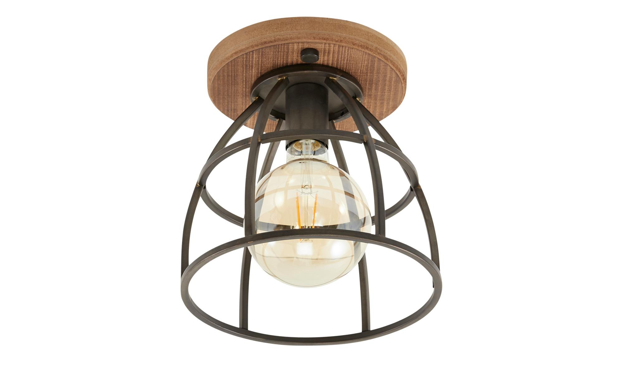 Deckenleuchte, 1-flammig Metall schwarz ¦ schwarz ¦ Maße (cm): H: 25,5 Ø: 25 Lampen & Leuchten > Innenleuchten > Deckenleuchten - Höffner