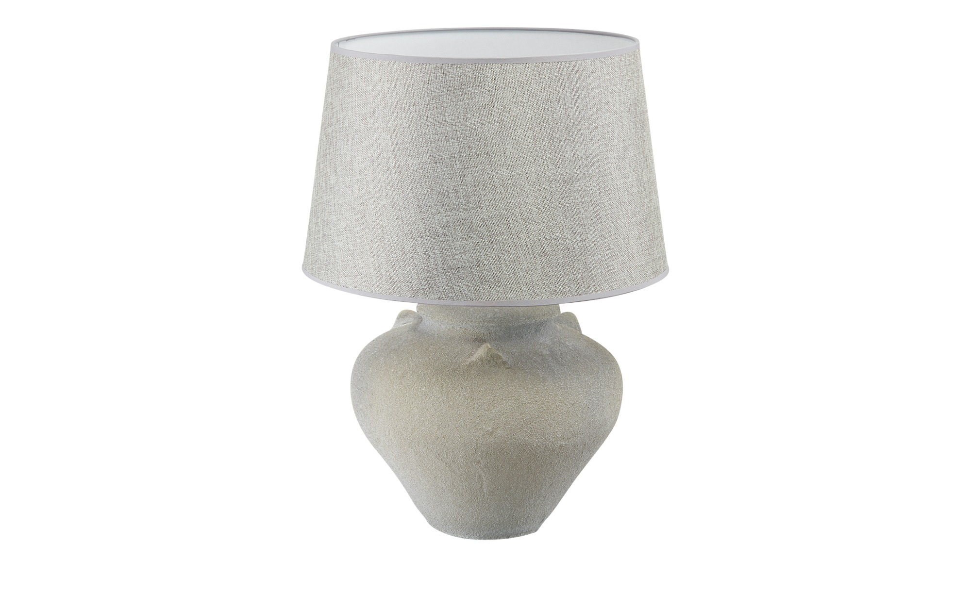 KHG Keramik-Tischleuchte, 1-flammig, grau ¦ grau ¦ Maße (cm): H: 55,5 Ø: 40 Lampen & Leuchten > Innenleuchten > Tischlampen - Höffner