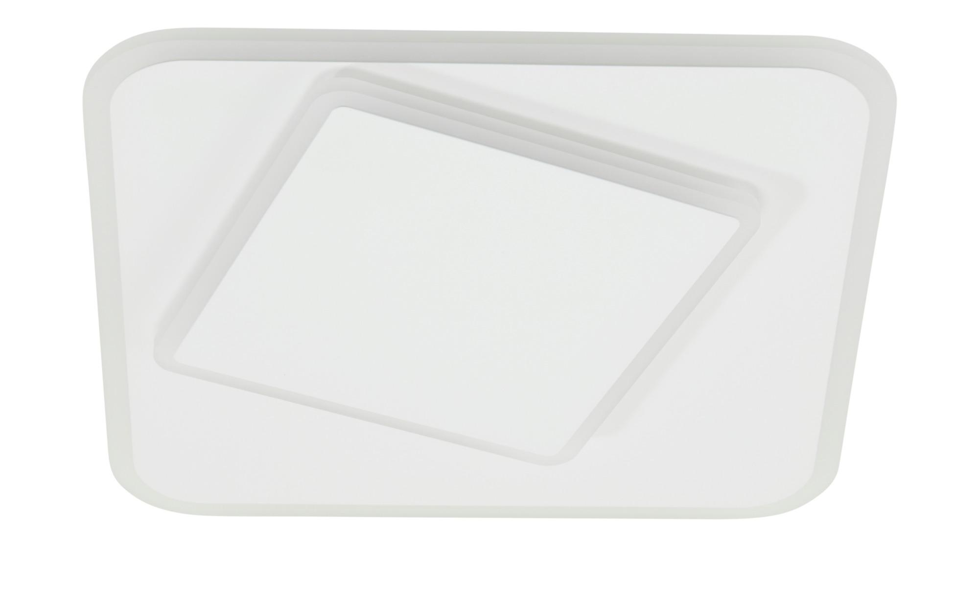 KHG LED-Deckenleuchte, weiß `Vierecke` ¦ weiß ¦ Maße (cm): B: 38 H: 5,5 Lampen & Leuchten > Innenleuchten > Deckenleuchten - Höffner