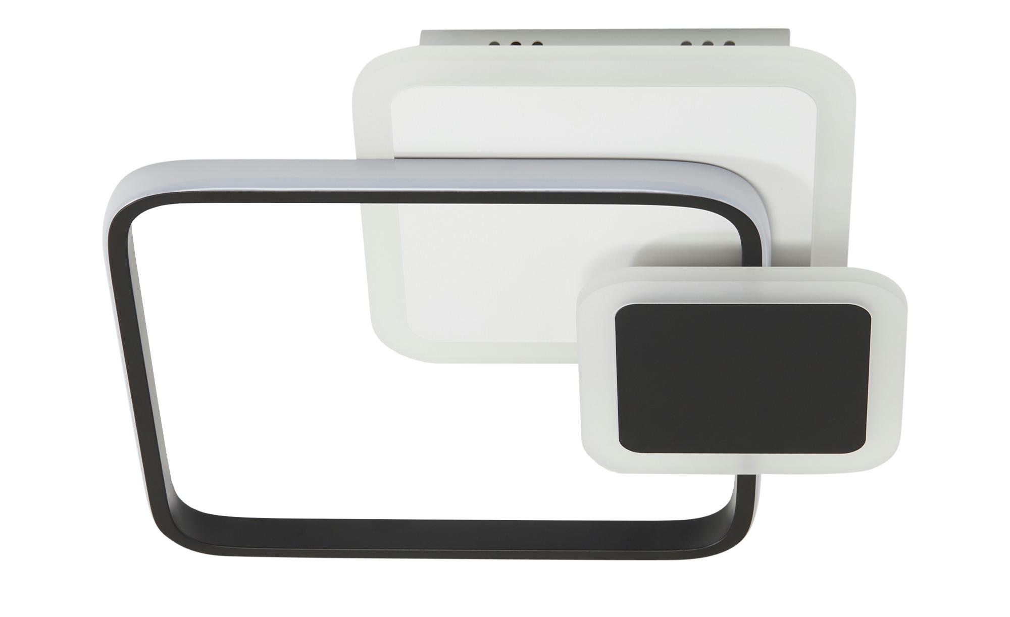 KHG LED-Deckenleuchte, schwarz/weiß, eckig ¦ weiß ¦ Maße (cm): B: 38 H: 7 Lampen & Leuchten > Innenleuchten > Deckenleuchten - Höffner