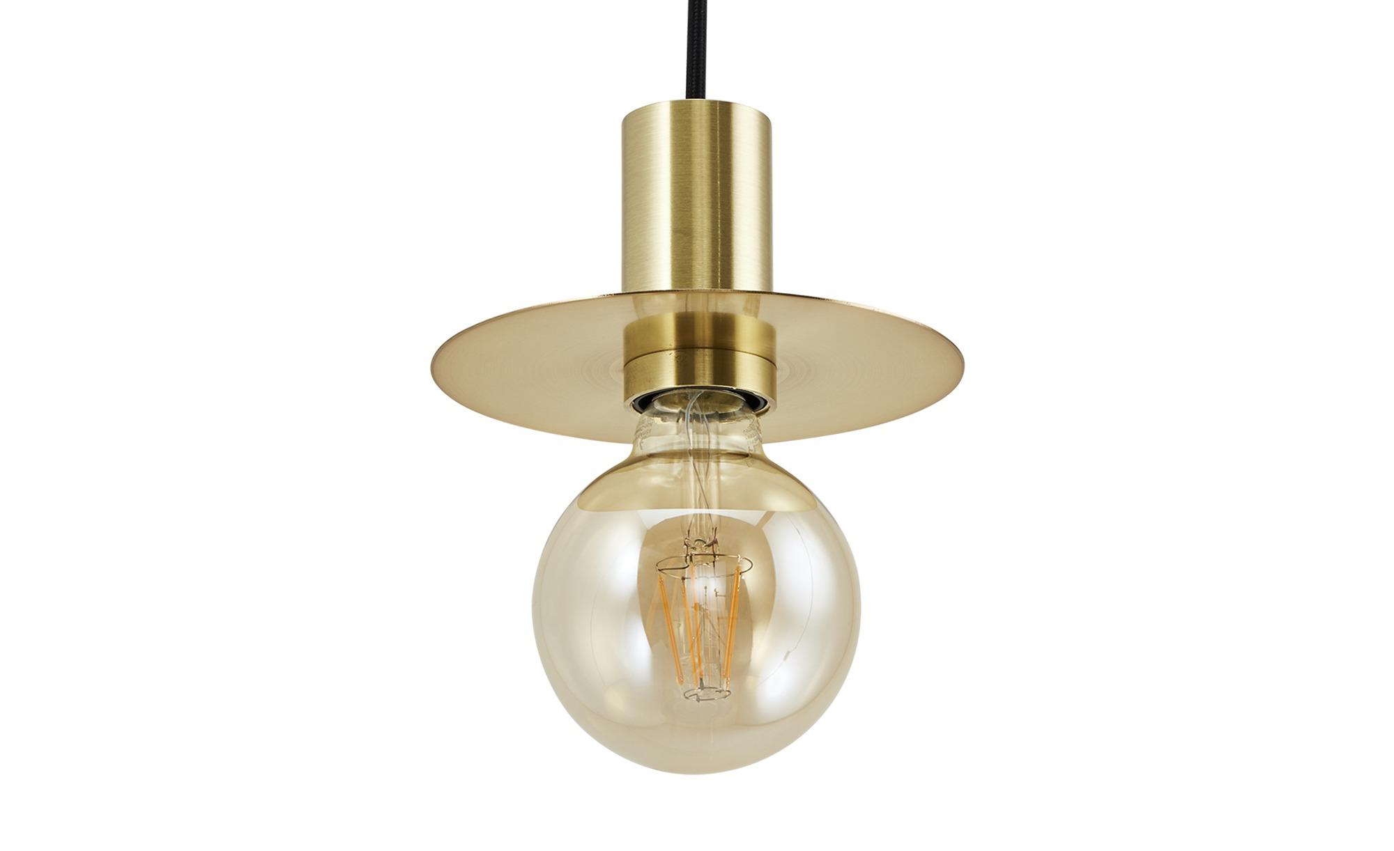 Pendelleuchte, 1-flammig, messing-matt ¦ gold ¦ Maße (cm): H: 143 Ø: 10 Lampen & Leuchten > Innenleuchten > Pendelleuchten - Höffner