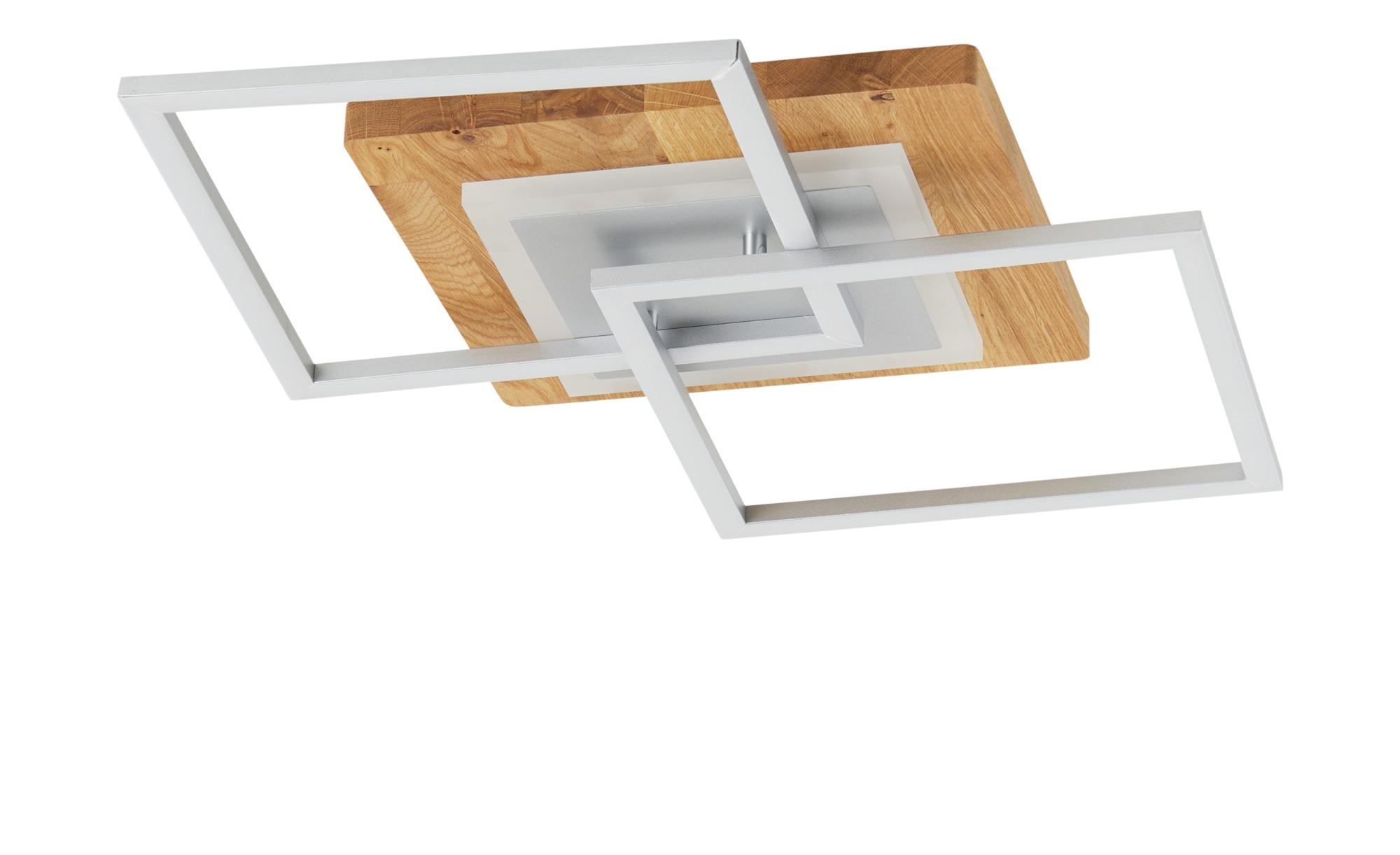 LED-Deckenleuchte, 2-flammig, Asteiche ¦ holzfarben ¦ Maße (cm): B: 57 H: 7 Lampen & Leuchten > Innenleuchten > Deckenleuchten - Höffner