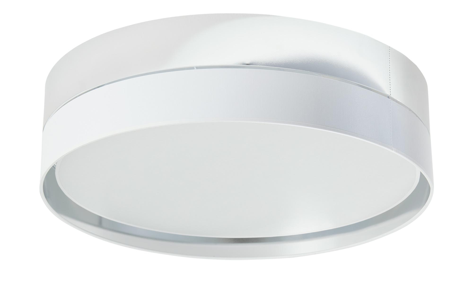 Deckenleuchte, silber/weiß ¦ weiß ¦ Maße (cm): H: 15 Ø: 60 Lampen & Leuchten > Innenleuchten > Deckenleuchten - Höffner